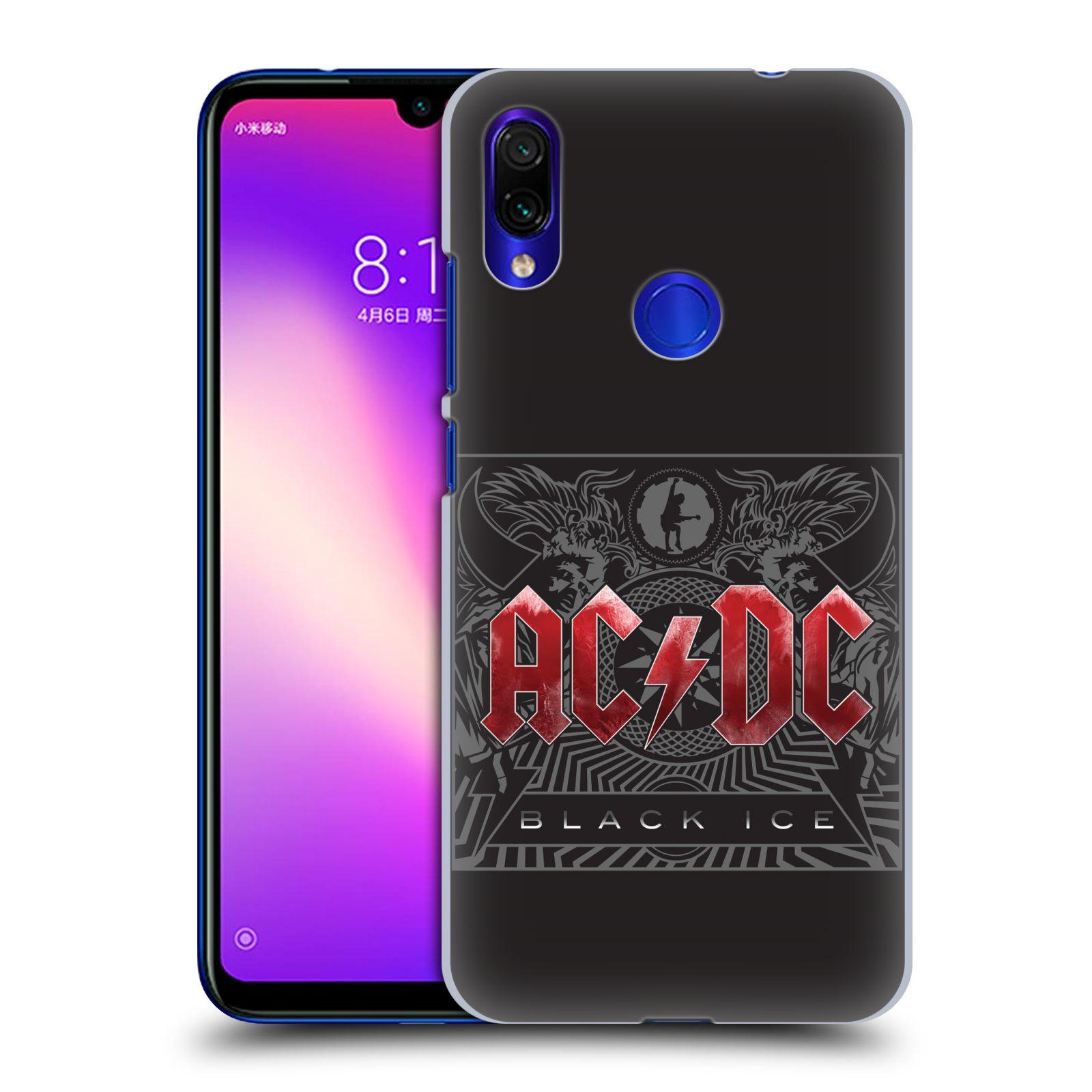 Plastové pouzdro na mobil Xiaomi Redmi Note 7 - Head Case - AC/DC Black Ice