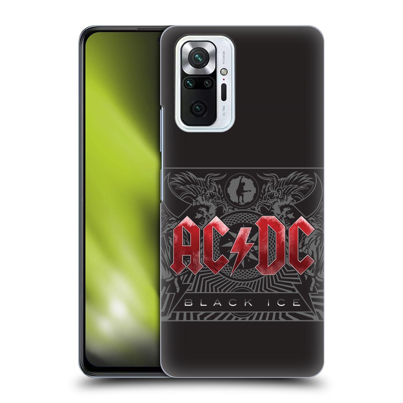 Plastové pouzdro na mobil Xiaomi Redmi Note 10 Pro - Head Case - AC/DC Black Ice
