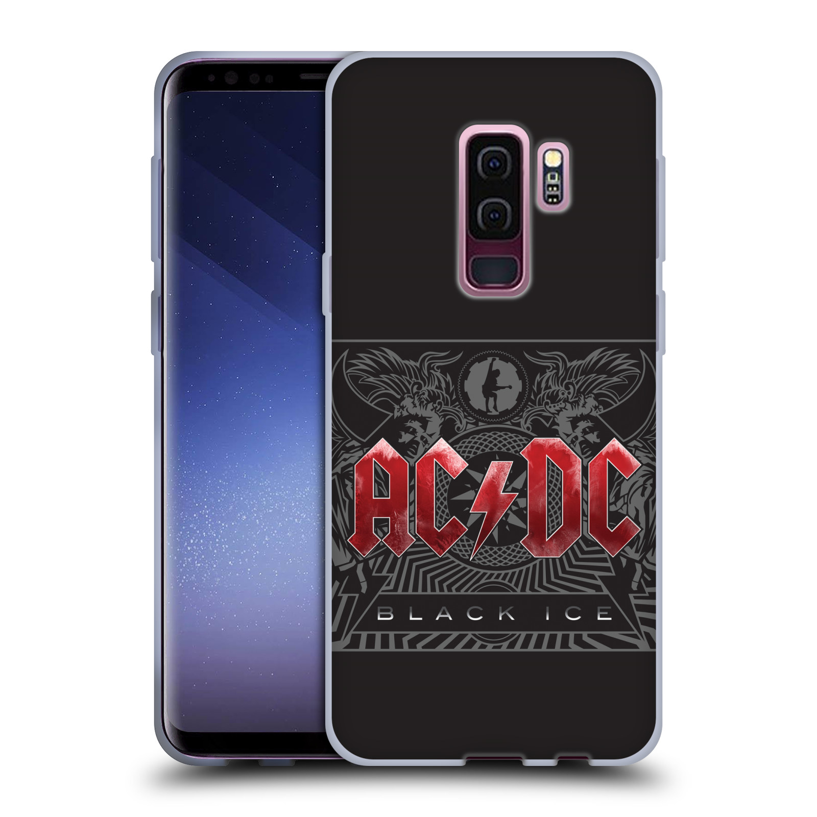 Silikonové pouzdro na mobil Samsung Galaxy S9 Plus - Head Case - AC/DC Black Ice