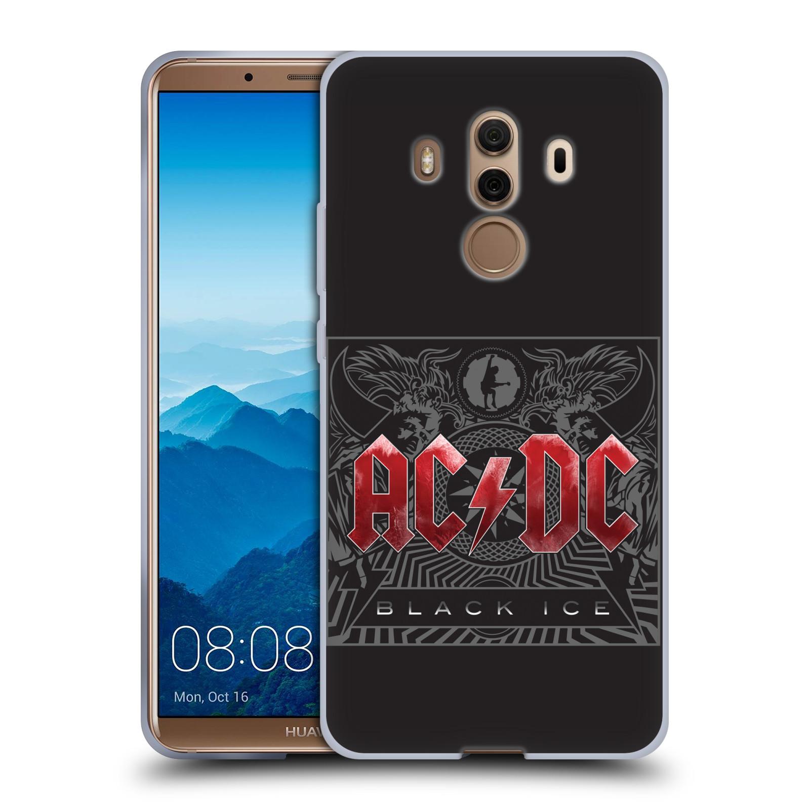 Silikonové pouzdro na mobil Huawei Mate 10 Pro - Head Case - AC/DC Black Ice