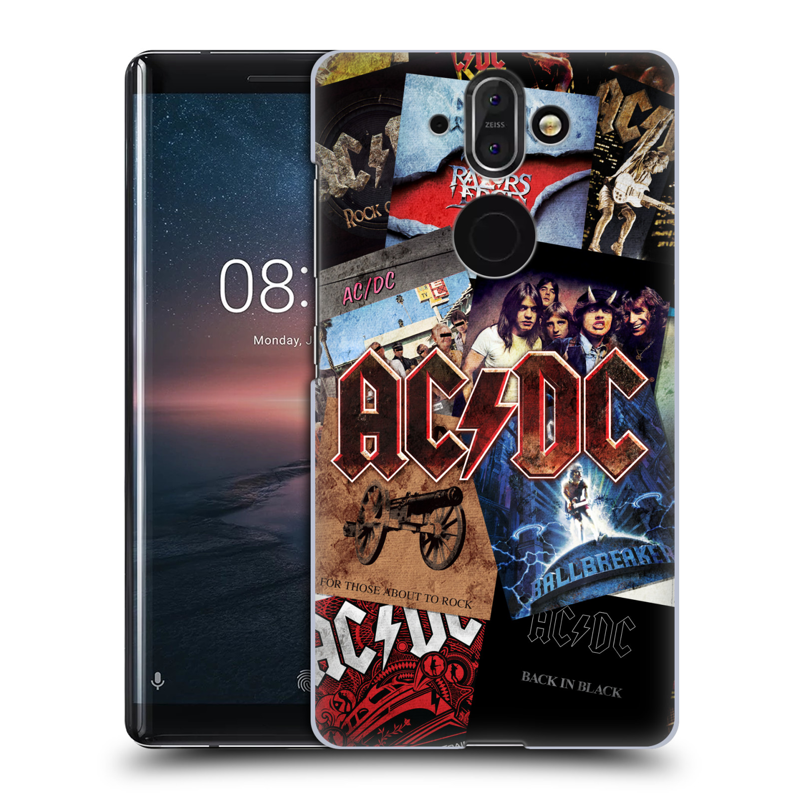 Plastové pouzdro na mobil Nokia 8 Sirocco - Head Case - AC/DC Koláž desek