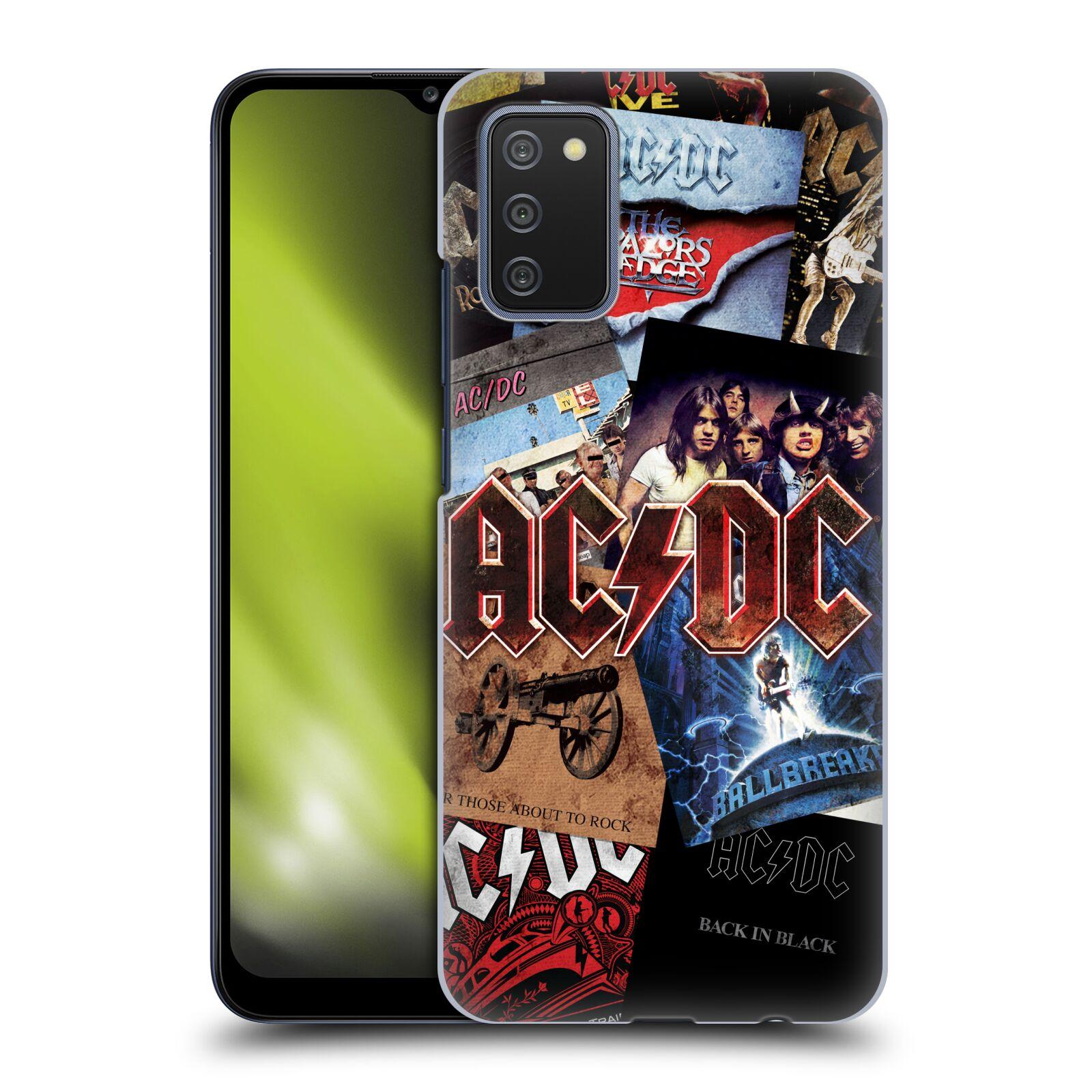 Plastové pouzdro na mobil Samsung Galaxy A02s - Head Case - AC/DC Koláž desek