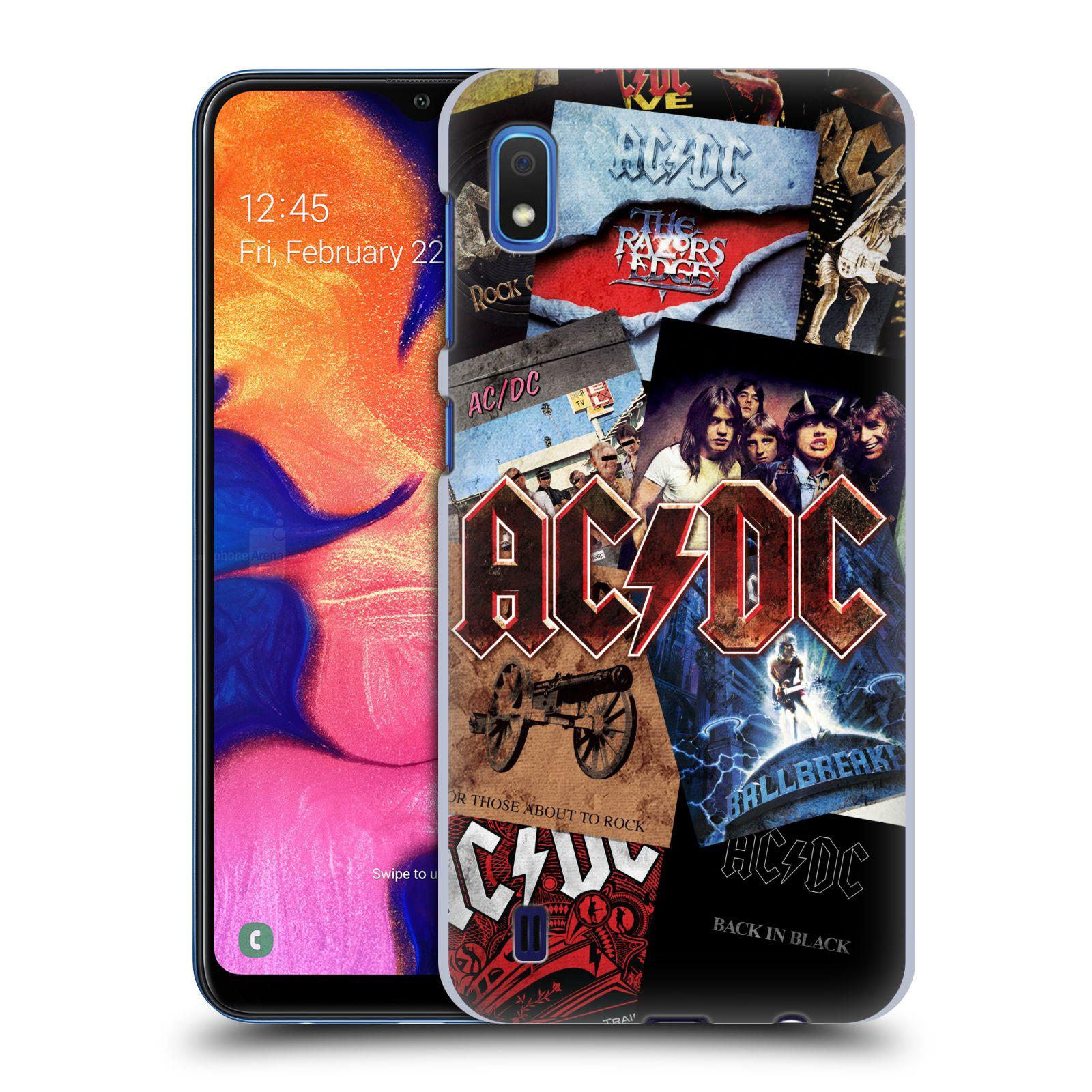 Plastové pouzdro na mobil Samsung Galaxy A10 - Head Case - AC/DC Koláž desek