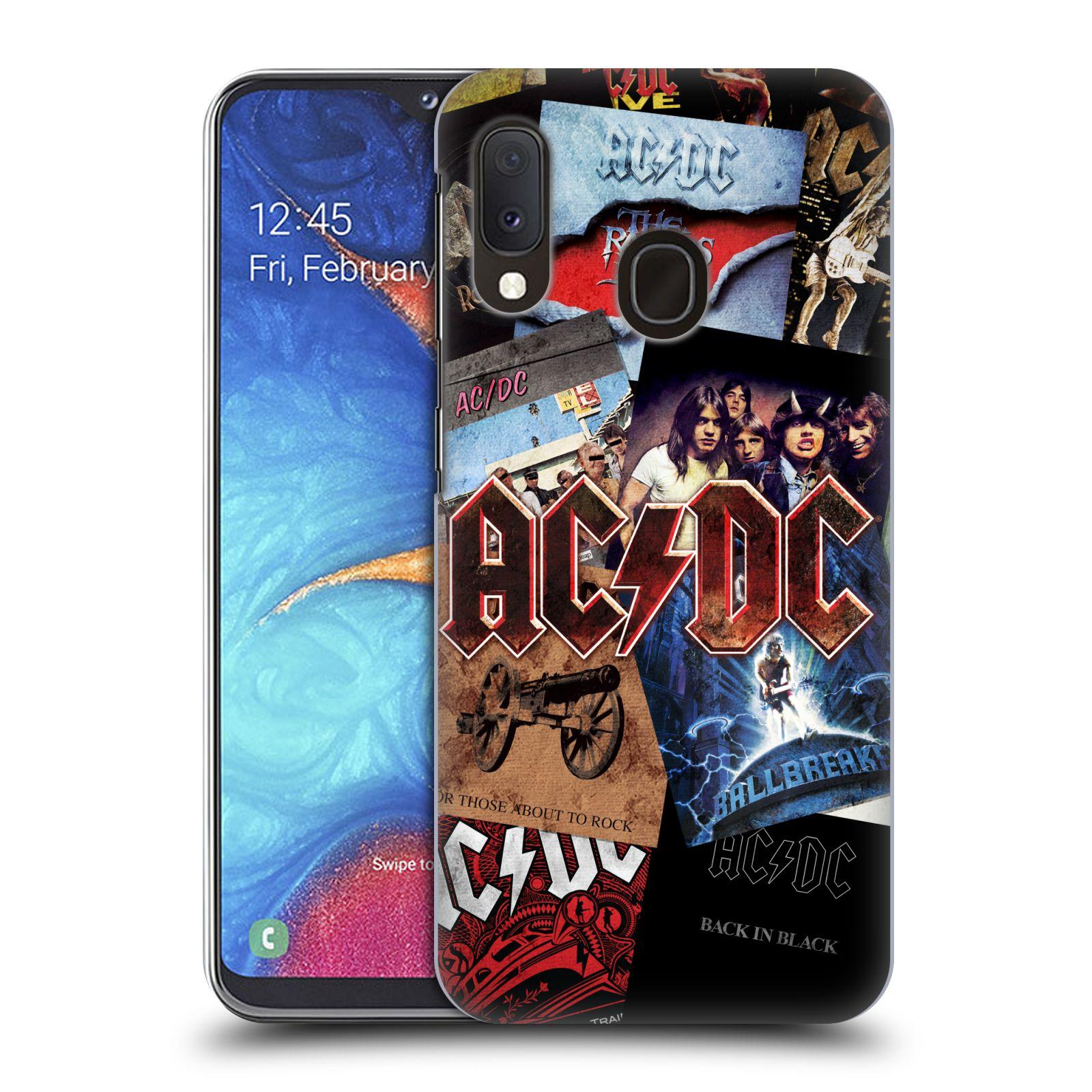 Plastové pouzdro na mobil Samsung Galaxy A20e - Head Case - AC/DC Koláž desek