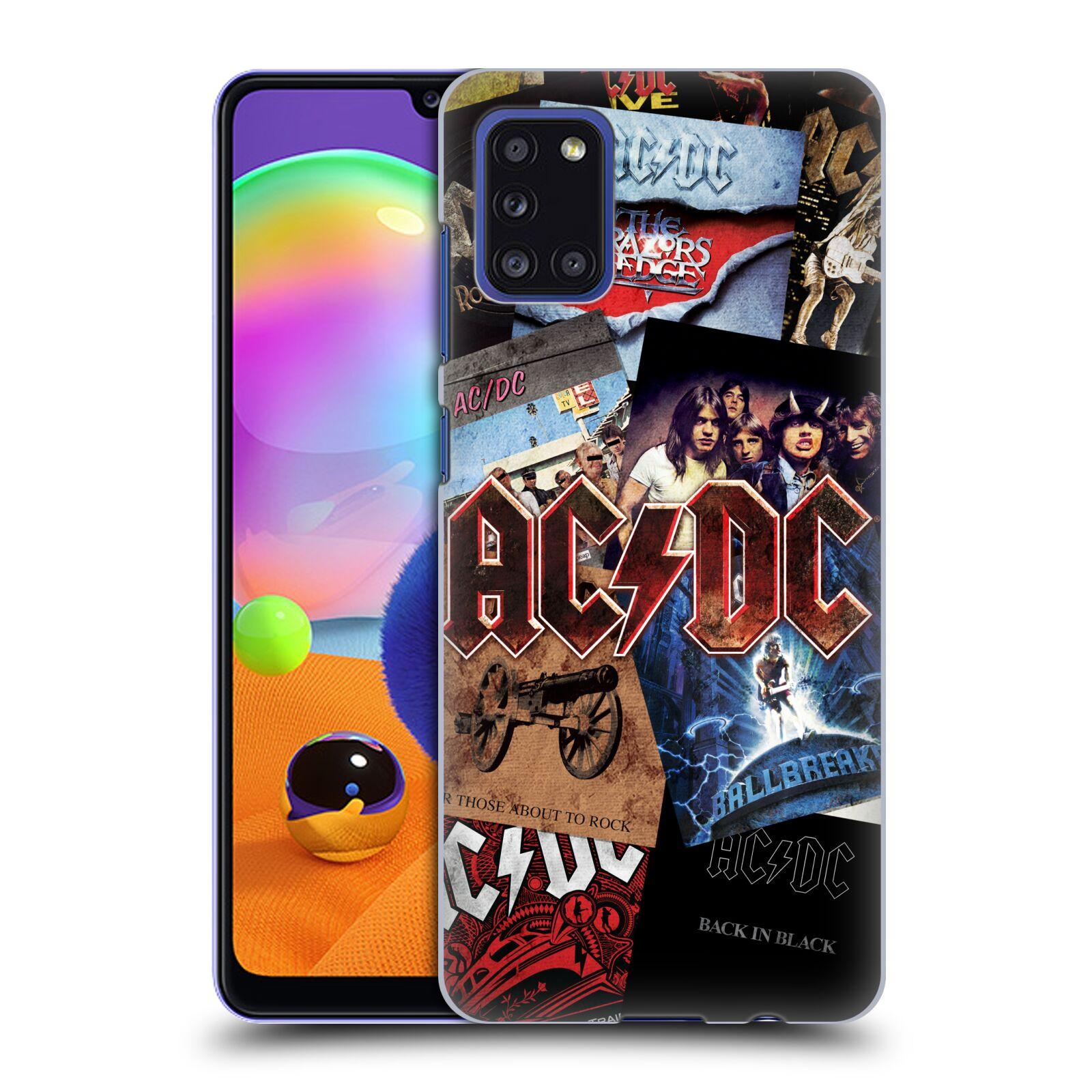 Plastové pouzdro na mobil Samsung Galaxy A31 - Head Case - AC/DC Koláž desek