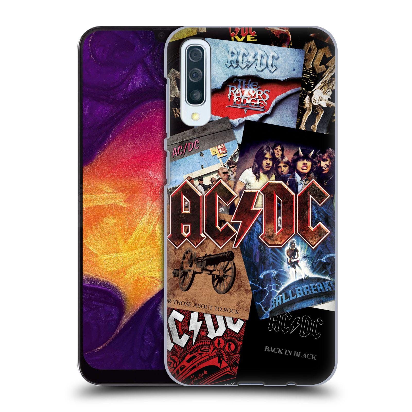 Plastové pouzdro na mobil Samsung Galaxy A50 - Head Case - AC/DC Koláž desek