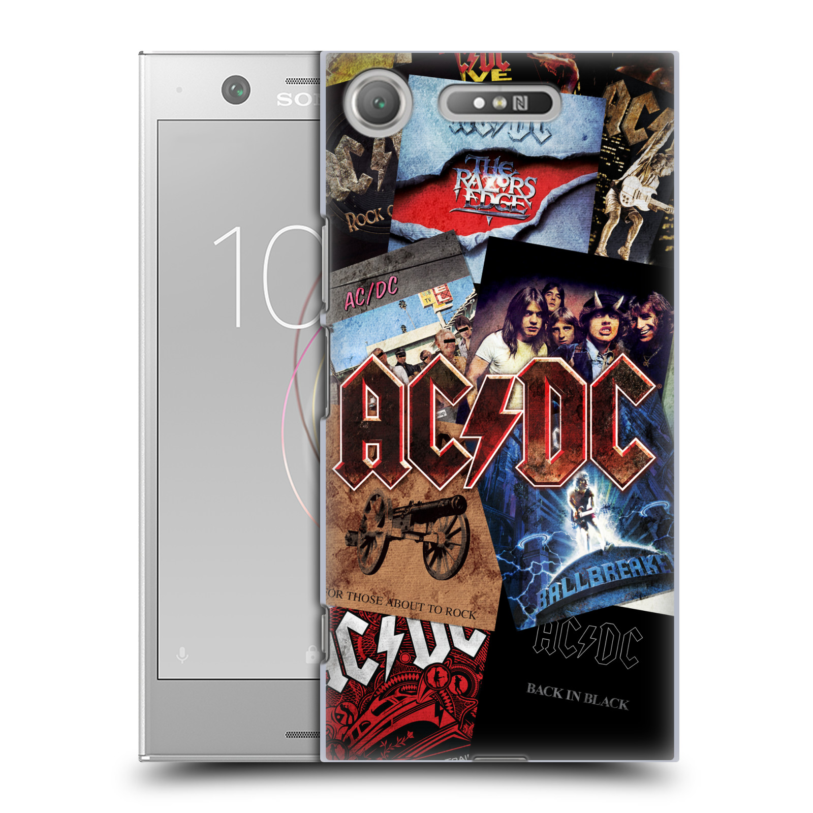 Plastové pouzdro na mobil Sony Xperia XZ1 - Head Case - AC/DC Koláž desek