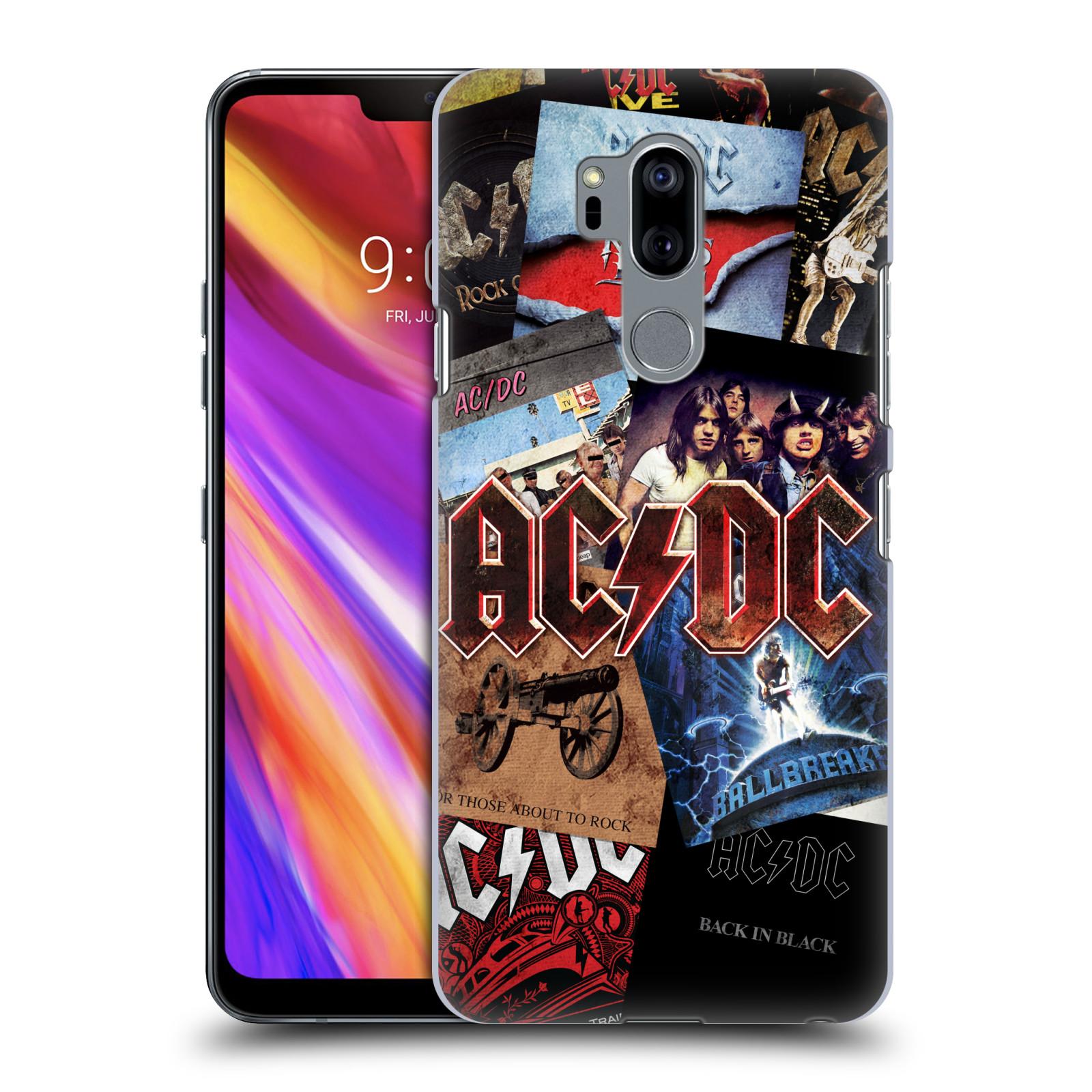 Plastové pouzdro na mobil LG G7 ThinQ - Head Case - AC/DC Koláž desek