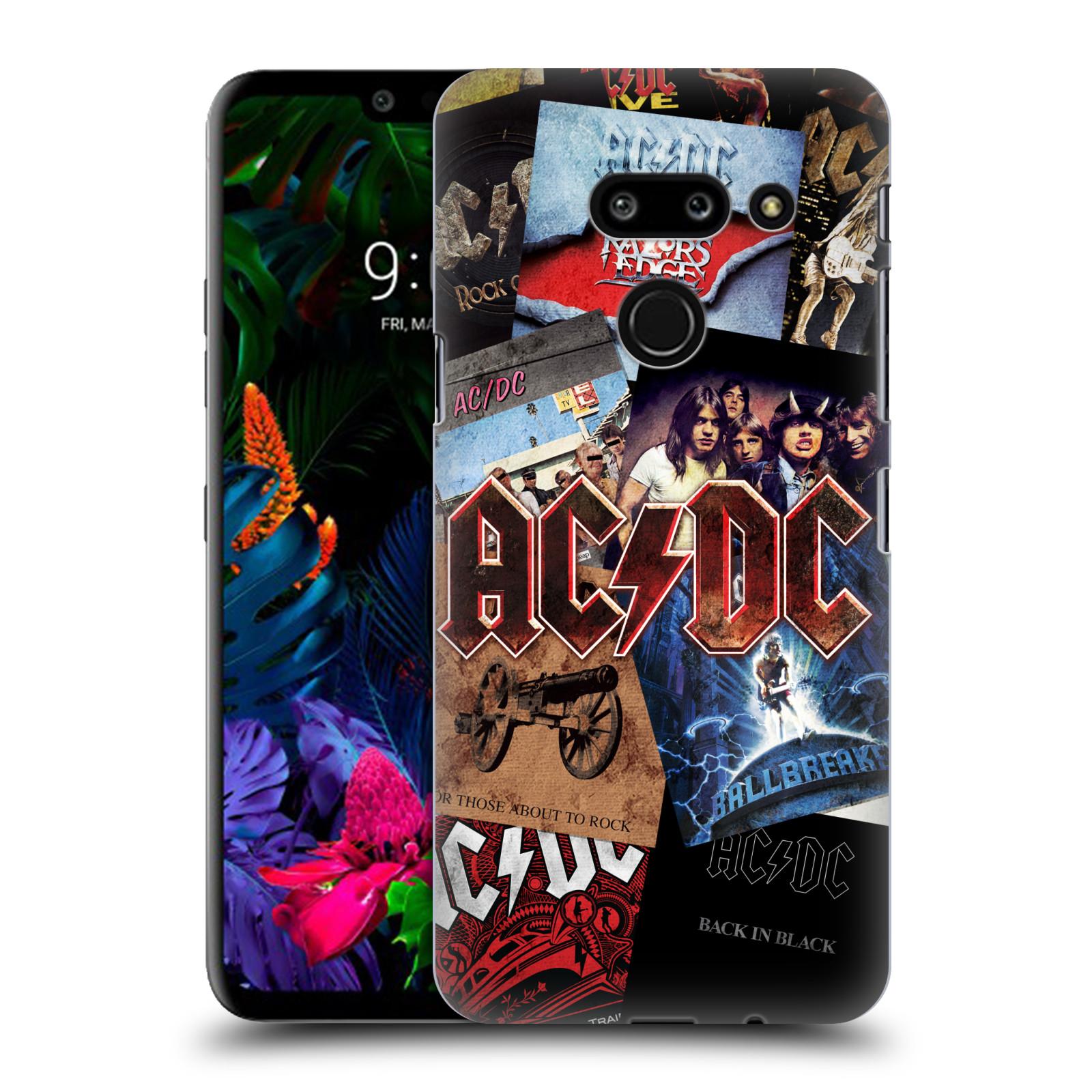 Plastové pouzdro na mobil LG G8 ThinQ - Head Case - AC/DC Koláž desek