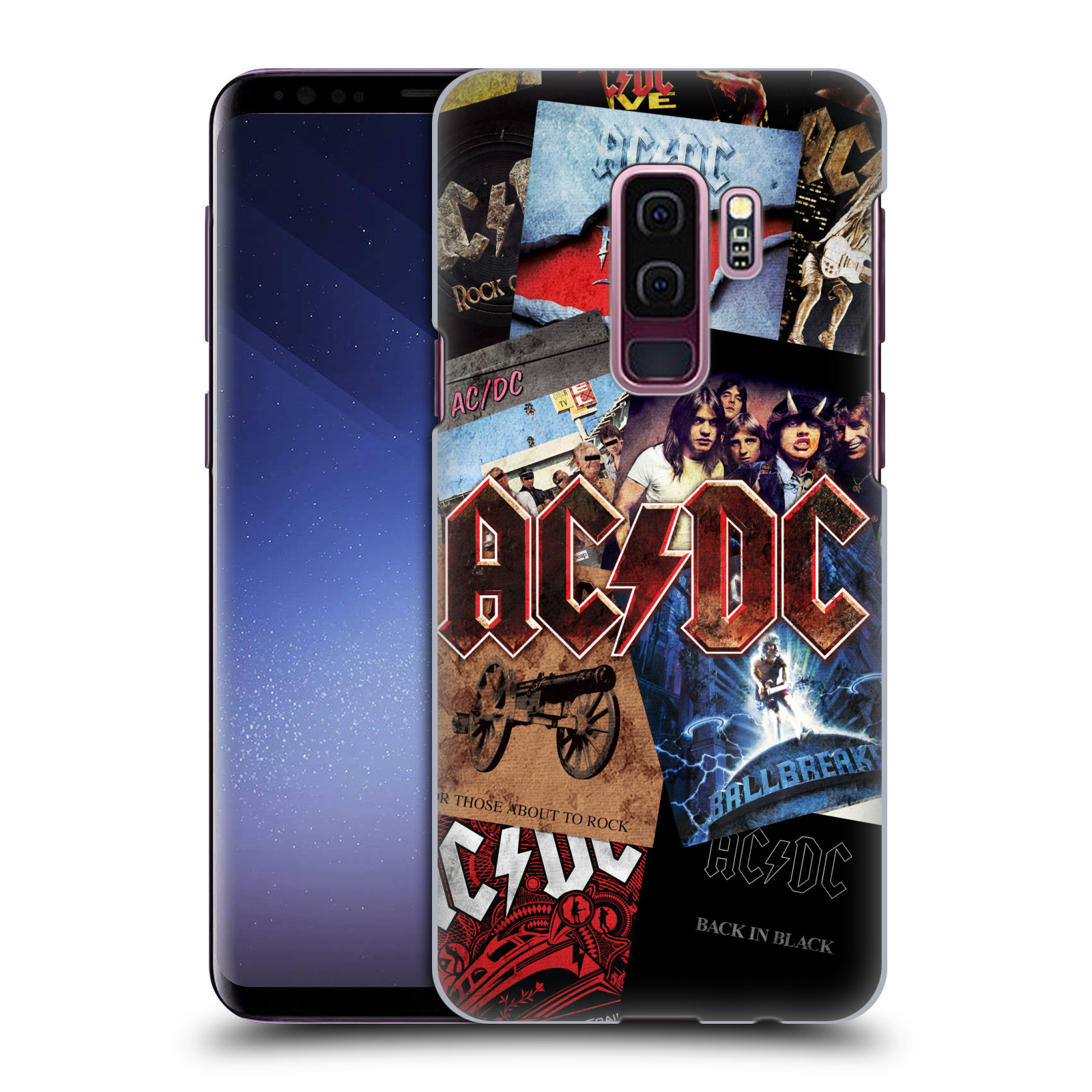 Plastové pouzdro na mobil Samsung Galaxy S9 Plus - Head Case - AC/DC Koláž desek