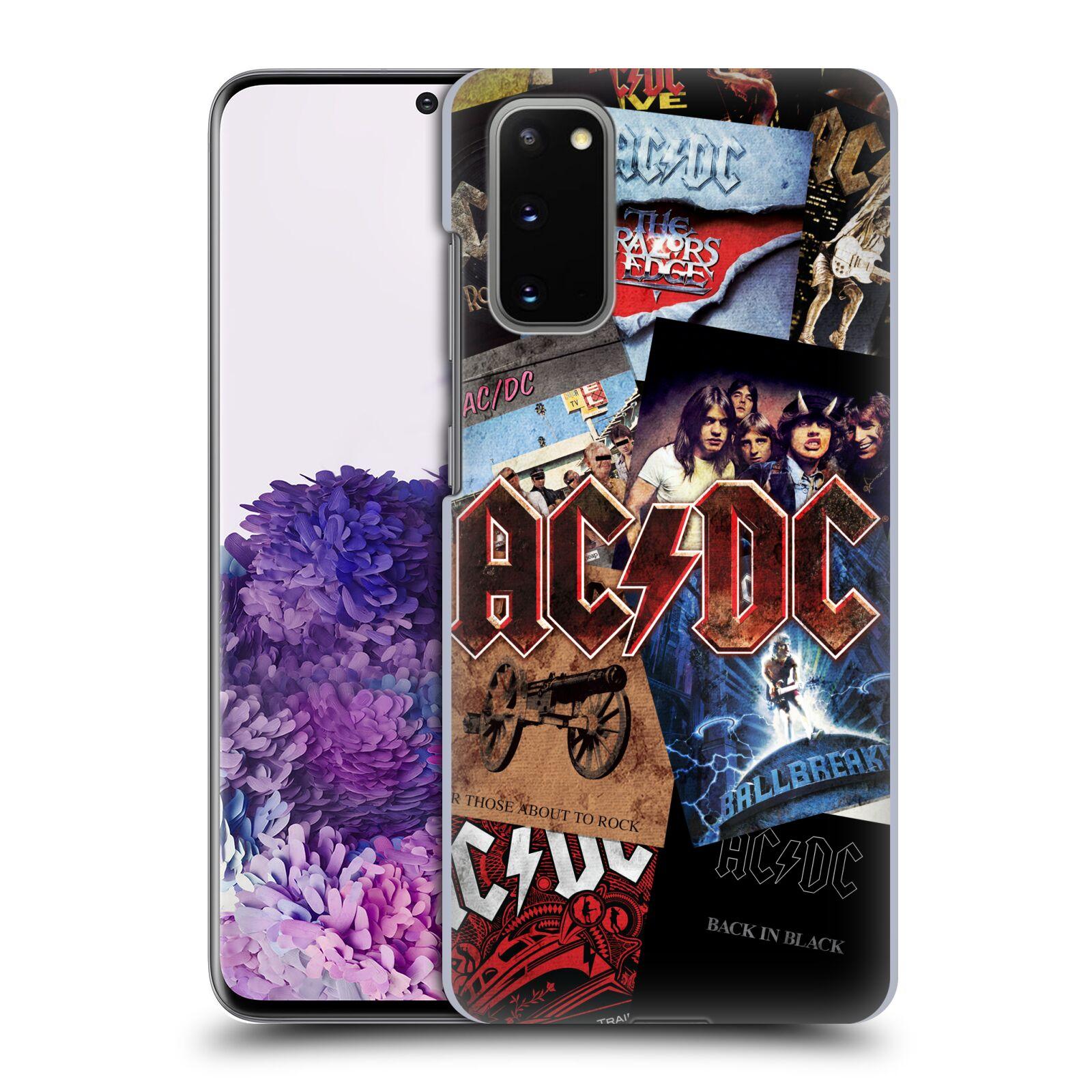 Plastové pouzdro na mobil Samsung Galaxy S20 - Head Case - AC/DC Koláž desek