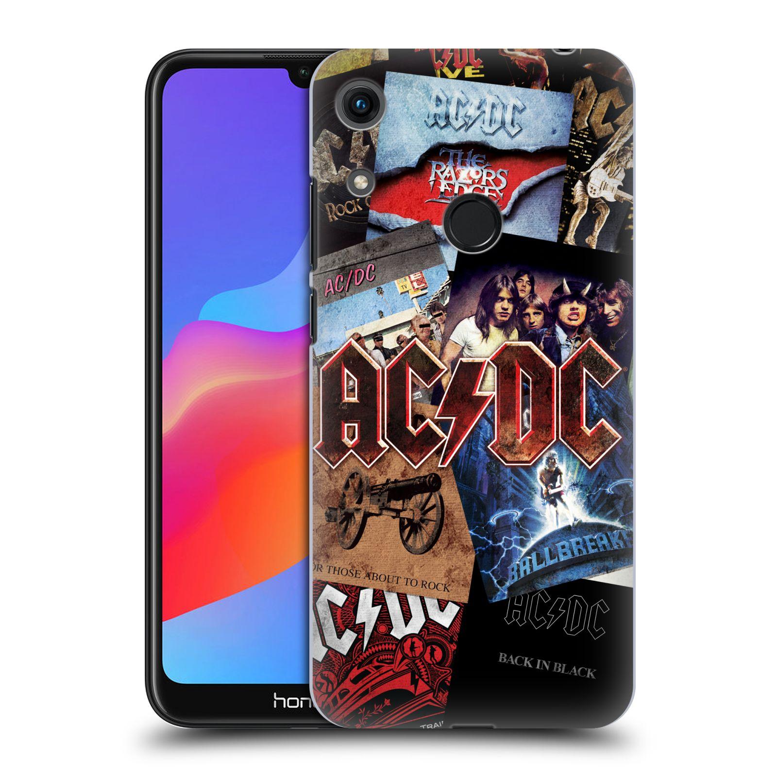Plastové pouzdro na mobil Honor 8A - Head Case - AC/DC Koláž desek