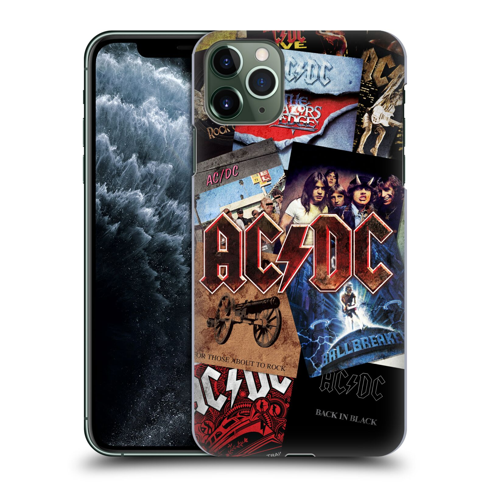 Plastové pouzdro na mobil Apple iPhone 11 Pro Max - Head Case - AC/DC Koláž desek