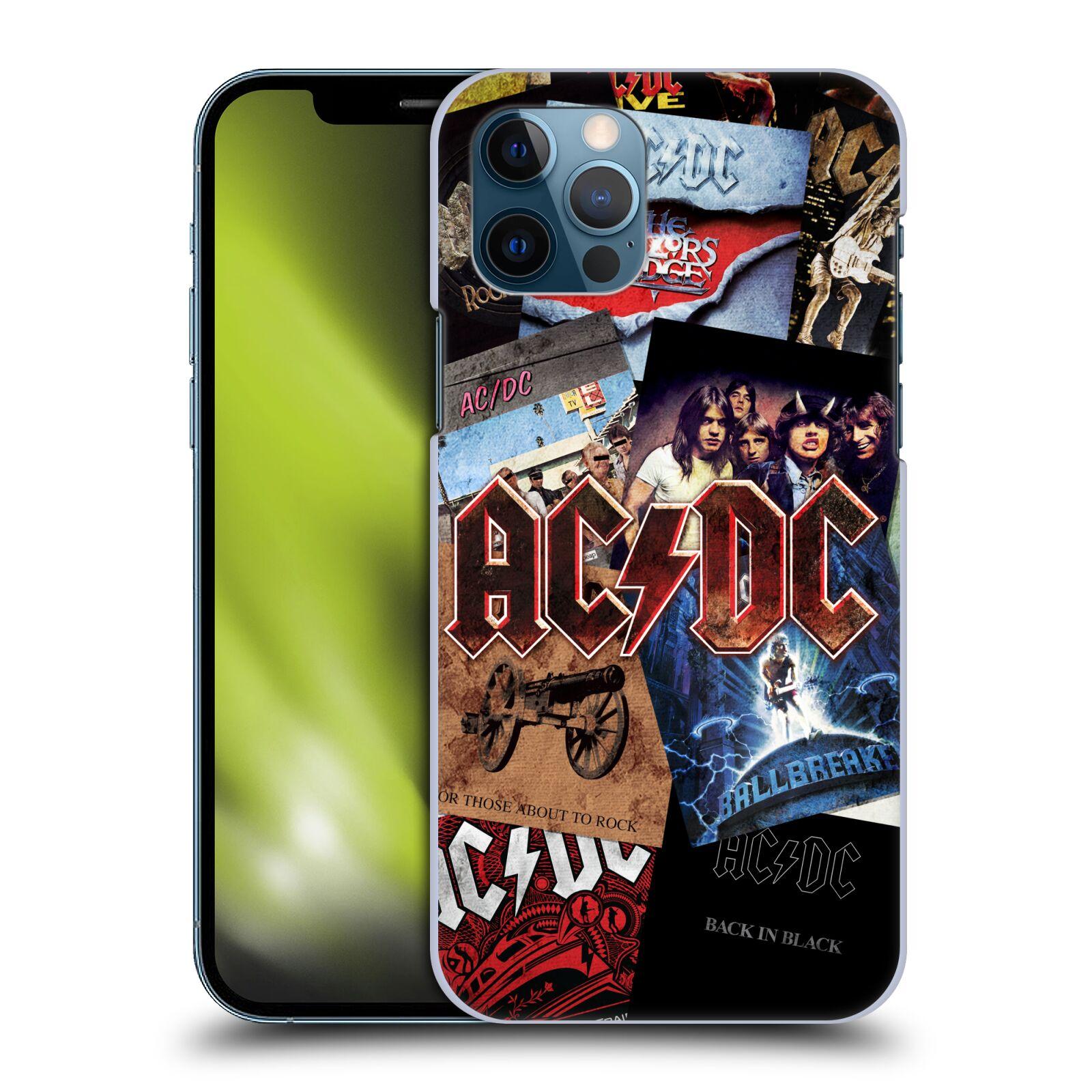 Plastové pouzdro na mobil Apple iPhone 12 / 12 Pro - Head Case - AC/DC Koláž desek