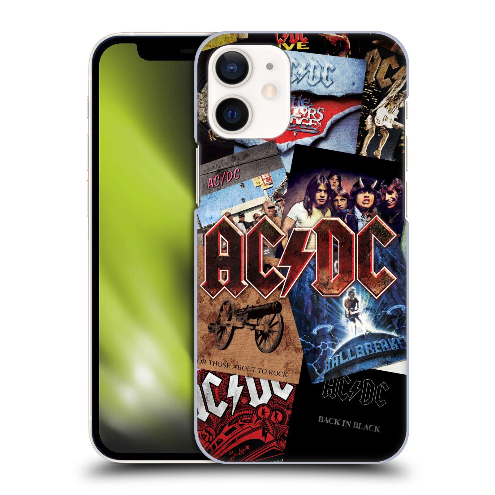 Plastové pouzdro na mobil Apple iPhone 12 Mini - Head Case - AC/DC Koláž desek
