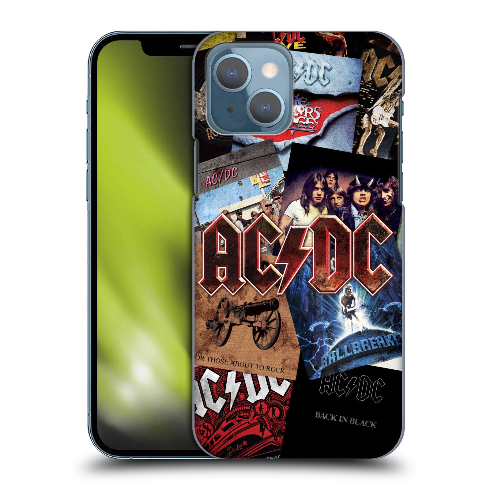 Plastové pouzdro na mobil Apple iPhone 13 - Head Case - AC/DC Koláž desek