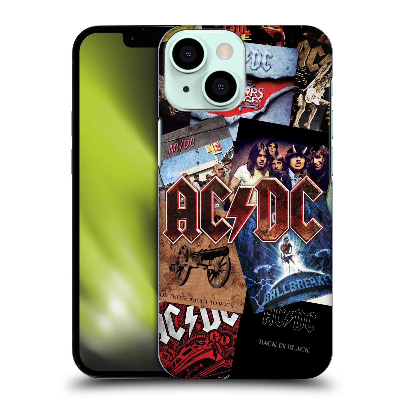Plastové pouzdro na mobil Apple iPhone 13 Mini - Head Case - AC/DC Koláž desek