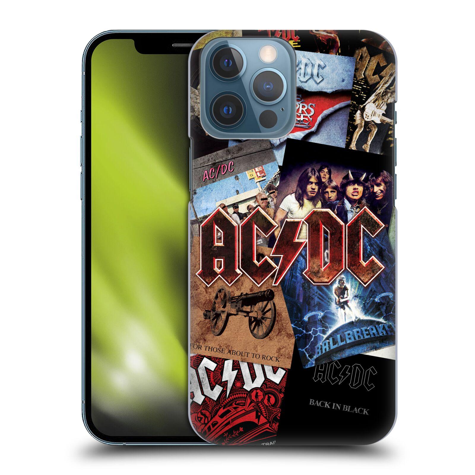Plastové pouzdro na mobil Apple iPhone 13 Pro Max - Head Case - AC/DC Koláž desek