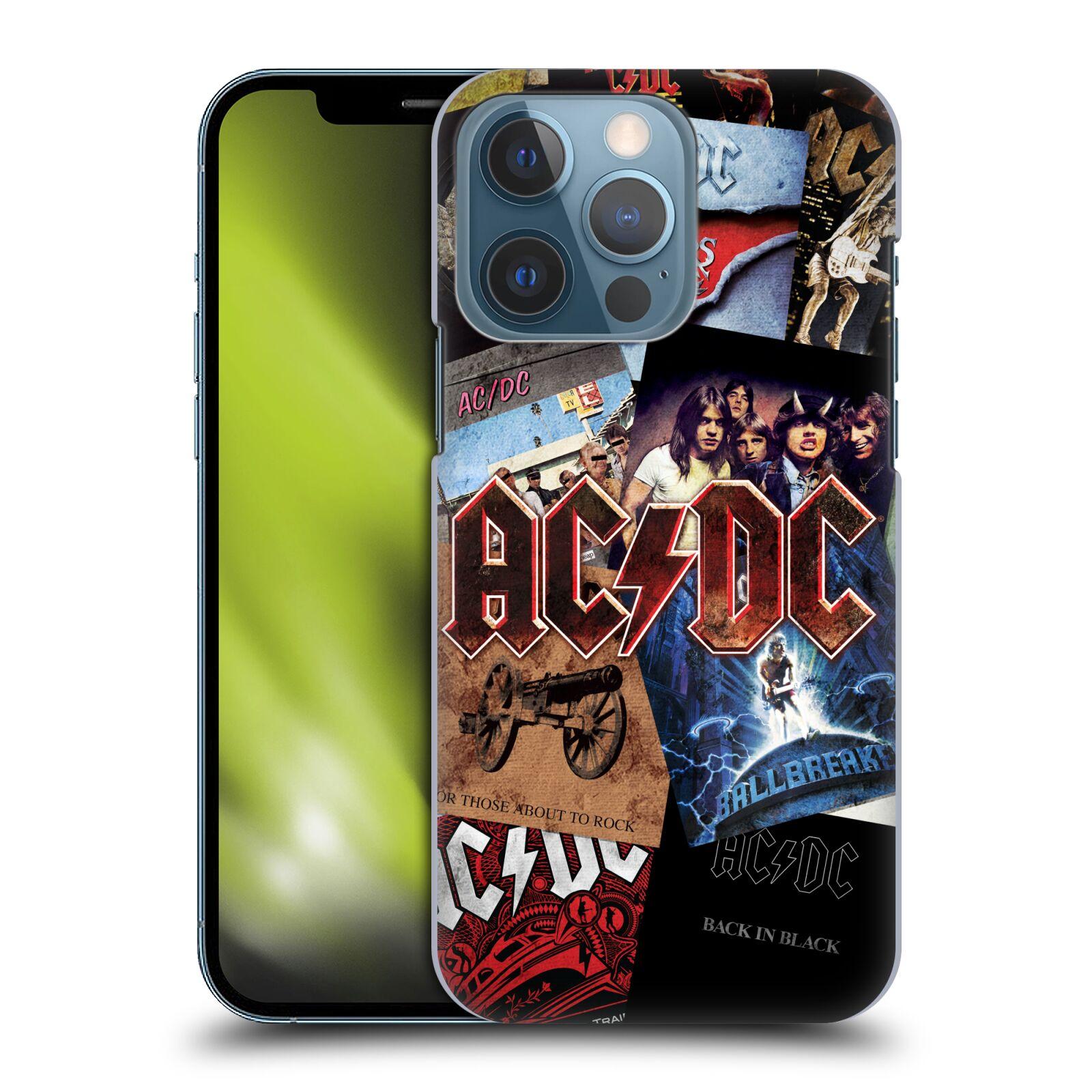 Plastové pouzdro na mobil Apple iPhone 13 Pro - Head Case - AC/DC Koláž desek