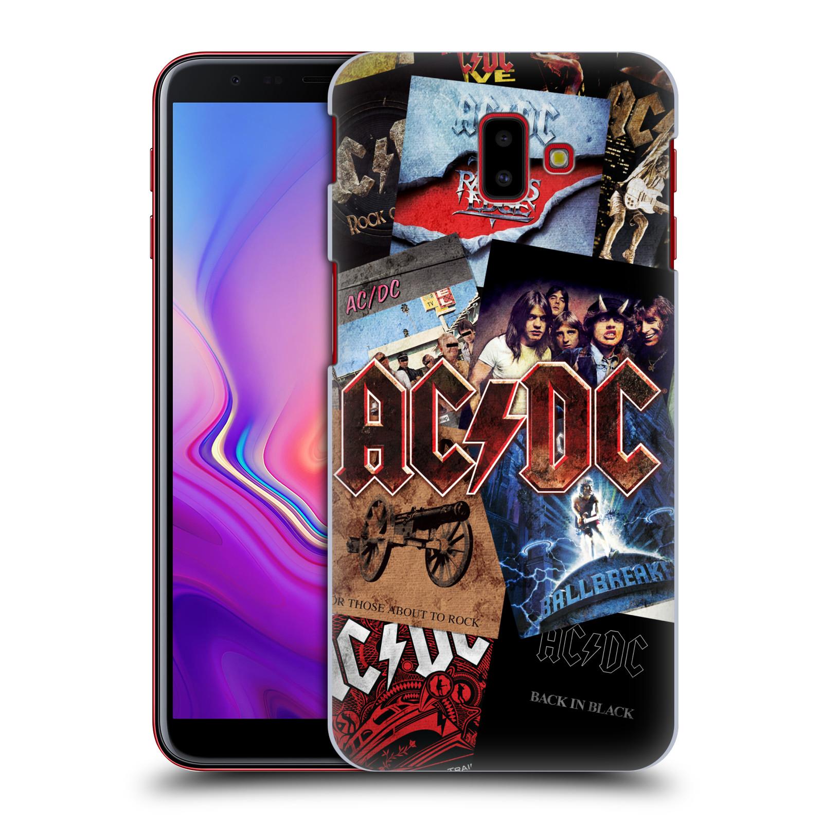 Plastové pouzdro na mobil Samsung Galaxy J6 Plus - Head Case - AC/DC Koláž desek