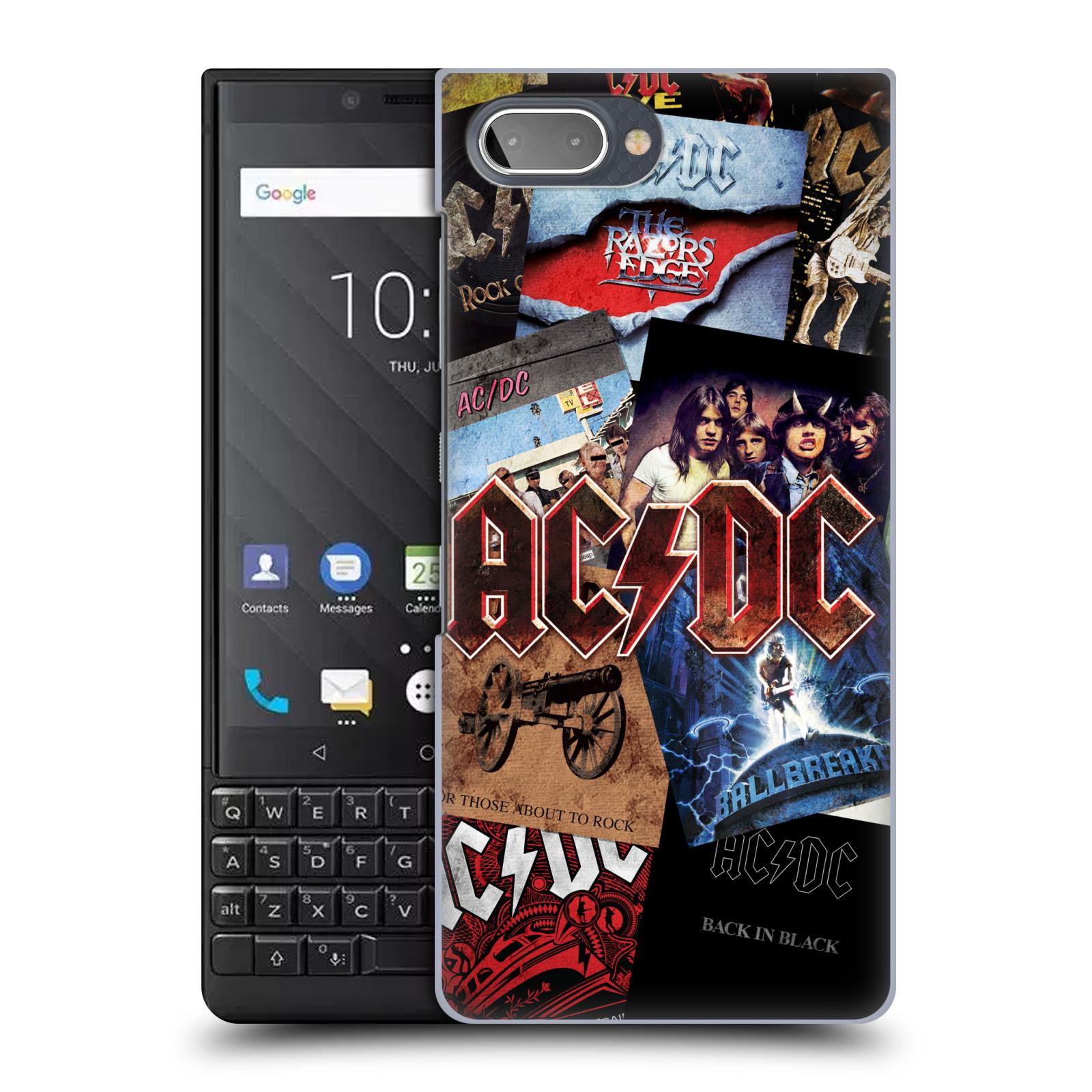Plastové pouzdro na mobil Blackberry Key 2 - Head Case - AC/DC Koláž desek