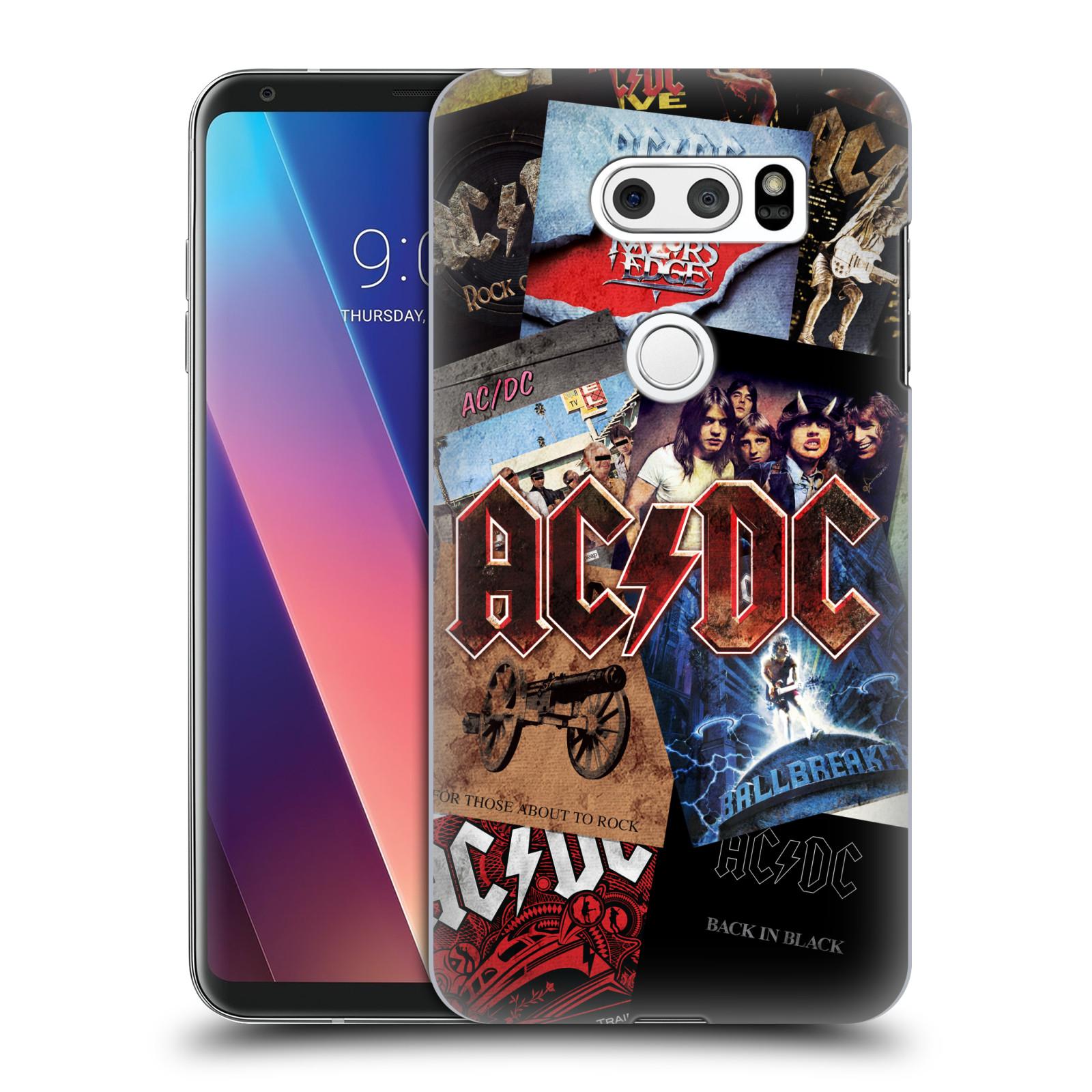 Plastové pouzdro na mobil LG V30 - Head Case - AC/DC Koláž desek