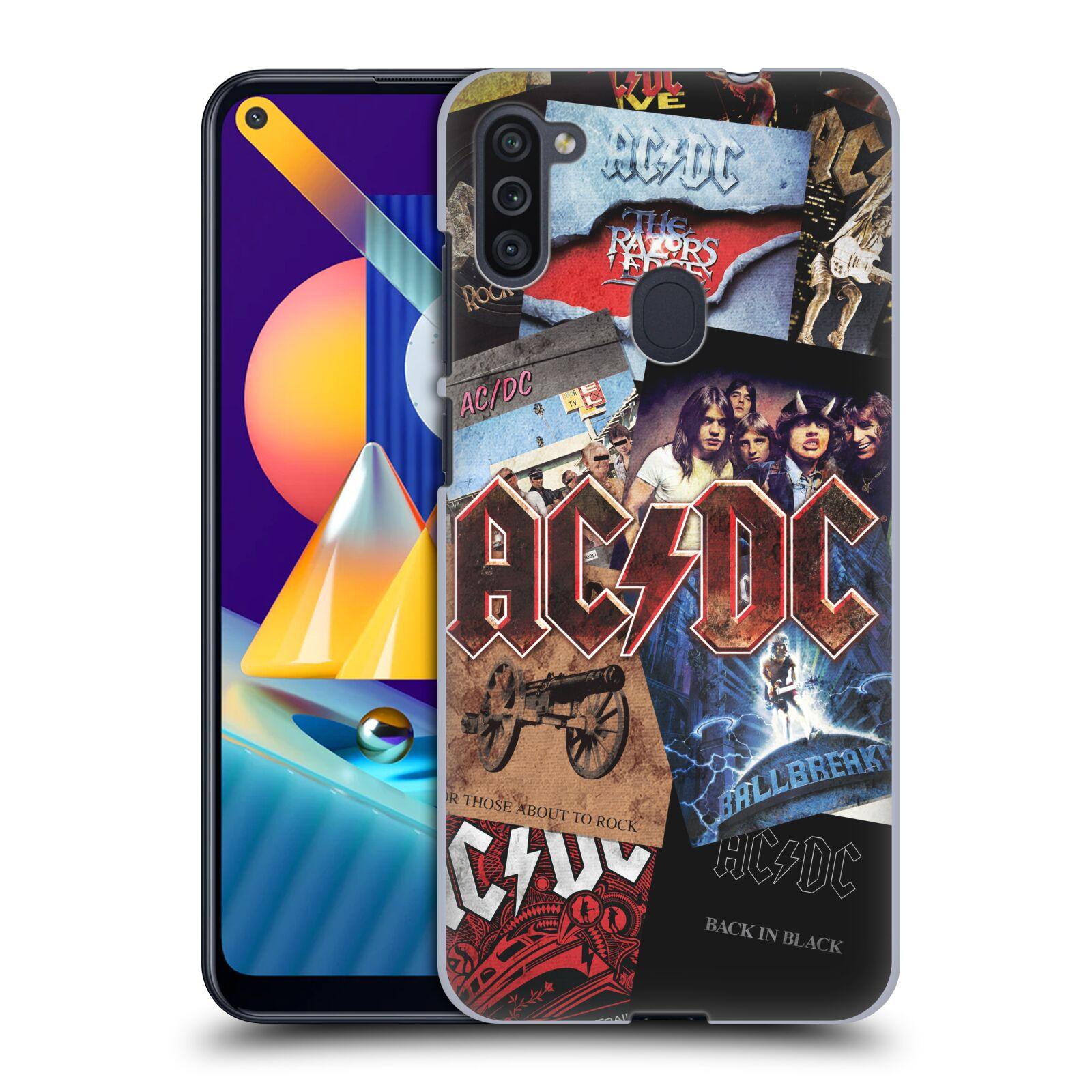 Plastové pouzdro na mobil Samsung Galaxy M11 - Head Case - AC/DC Koláž desek