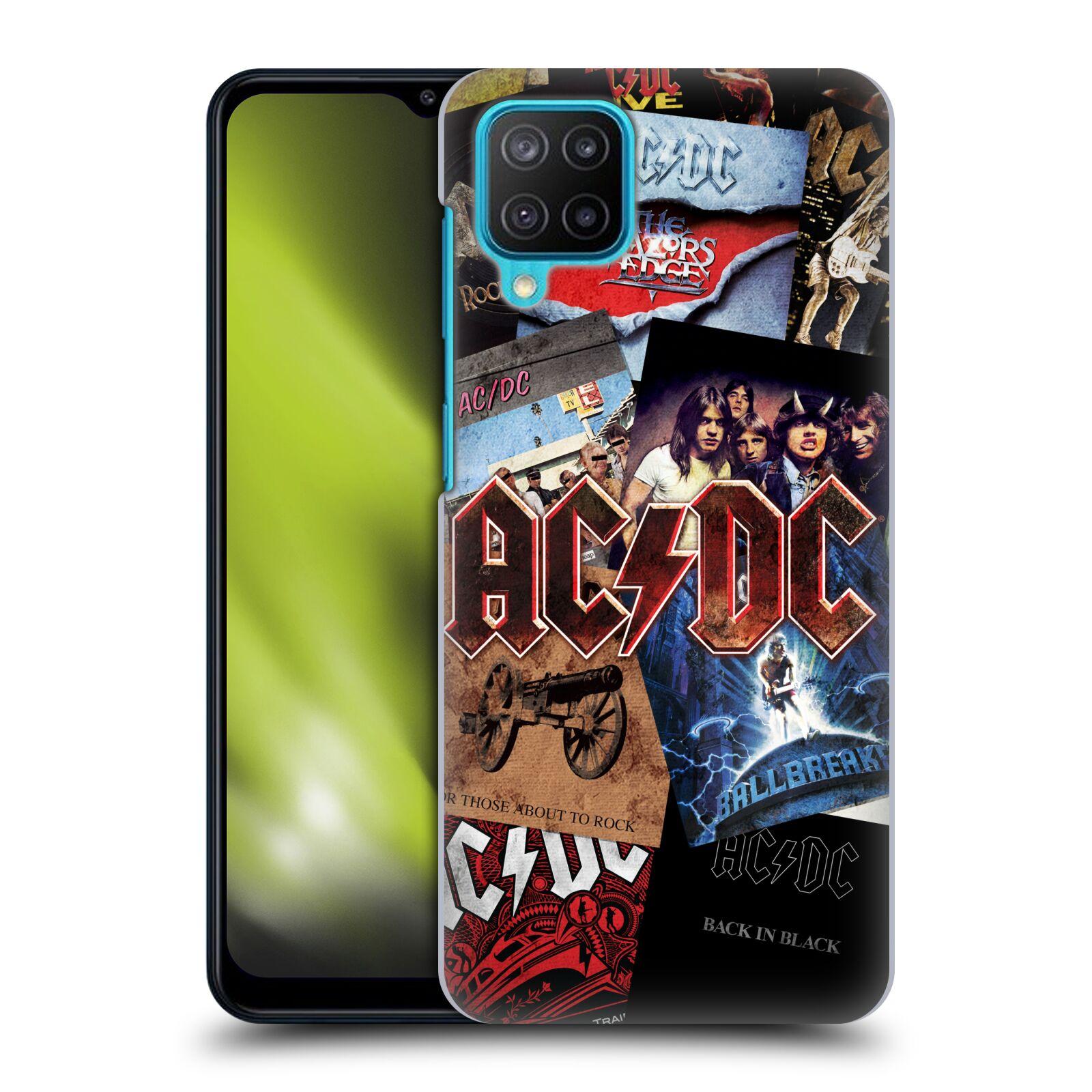 Plastové pouzdro na mobil Samsung Galaxy M12 - Head Case - AC/DC Koláž desek
