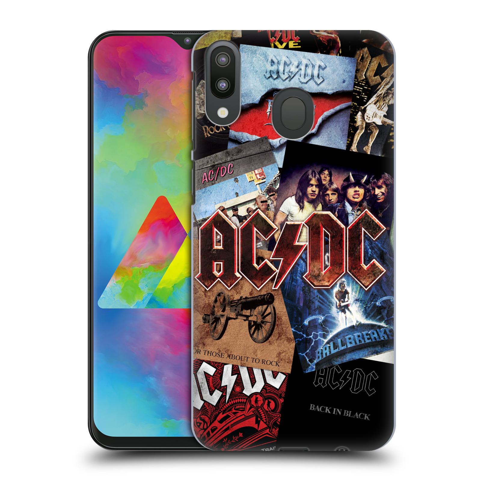 Plastové pouzdro na mobil Samsung Galaxy M20 - Head Case - AC/DC Koláž desek