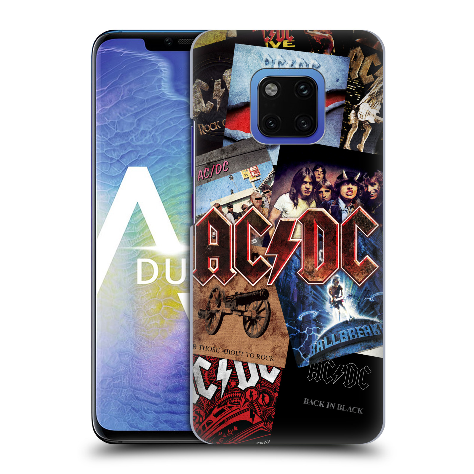 Plastové pouzdro na mobil Huawei Mate 20 Pro - Head Case - AC/DC Koláž desek