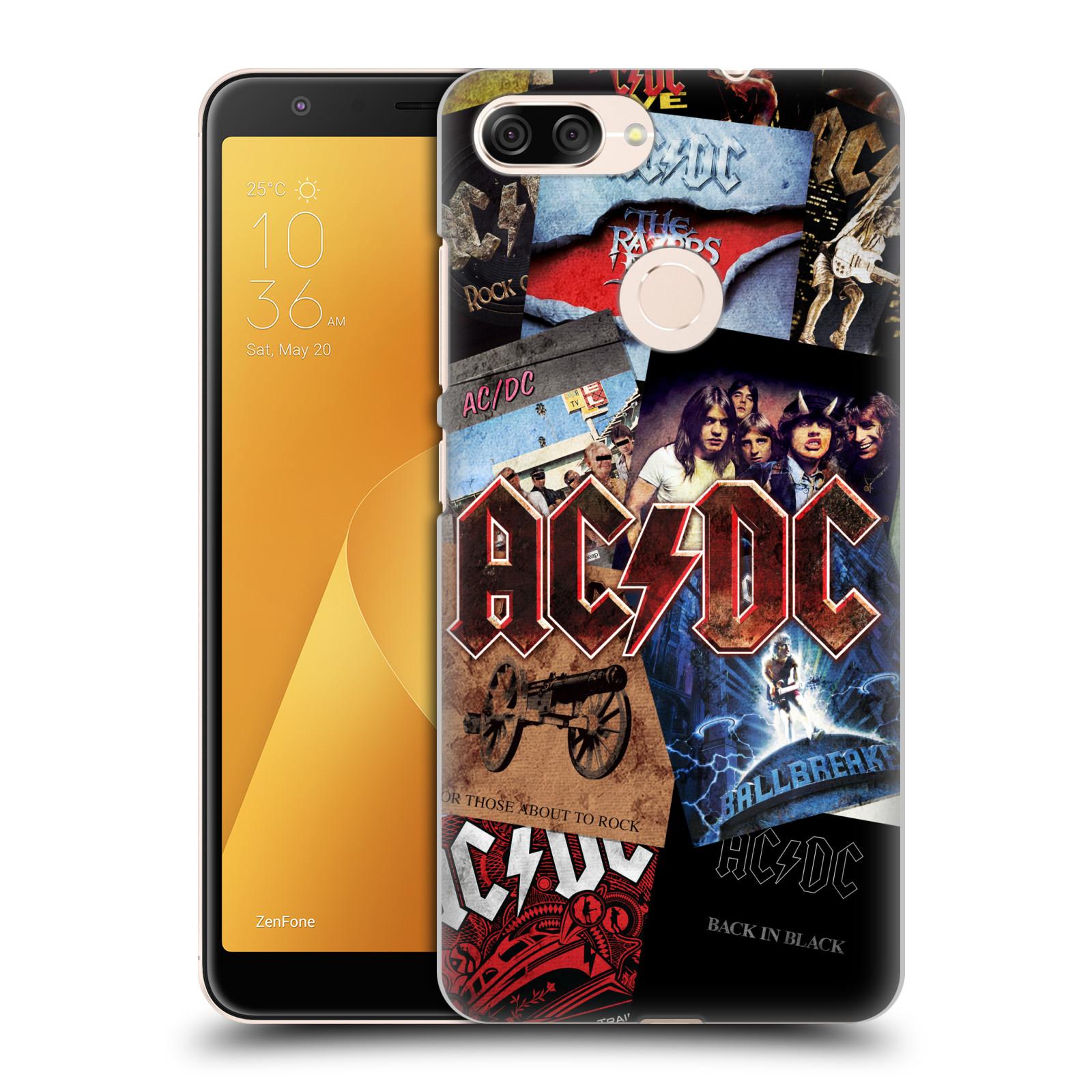 Plastové pouzdro na mobil Asus ZenFone Max Plus (M1) - Head Case - AC/DC Koláž desek