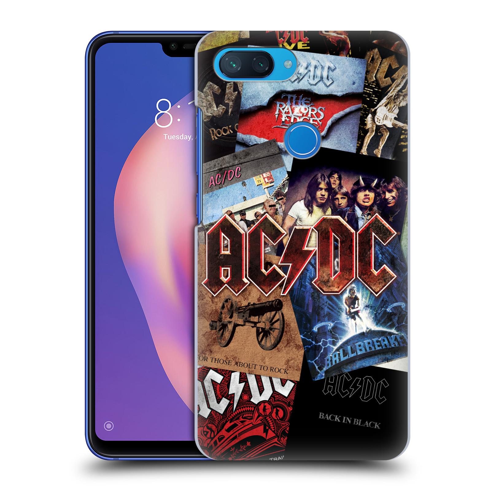 Plastové pouzdro na mobil Xiaomi Mi 8 Lite - Head Case - AC/DC Koláž desek