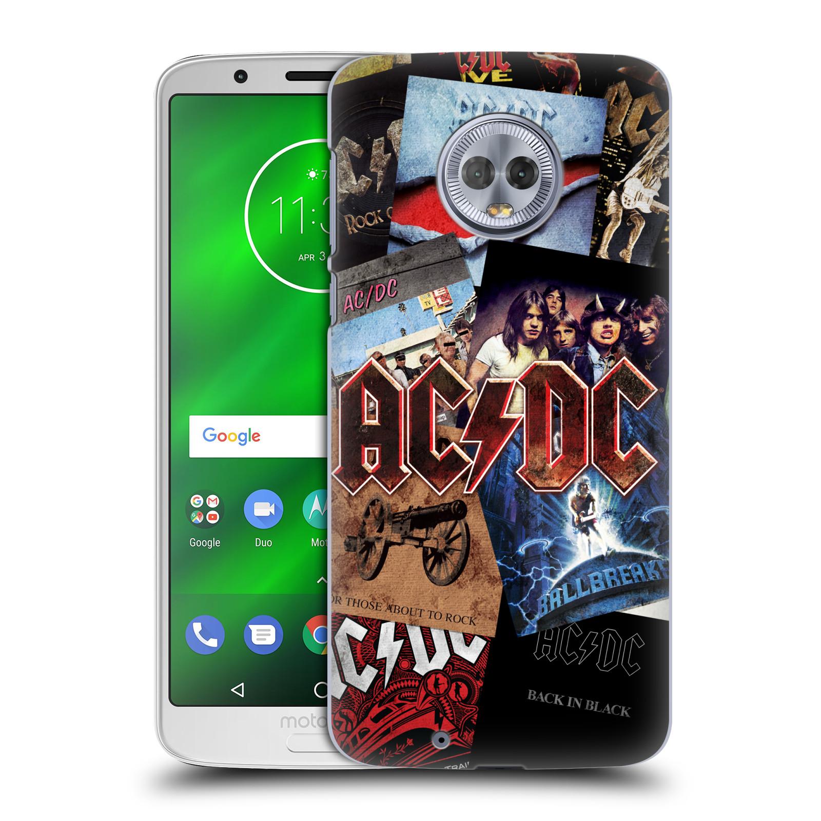 Plastové pouzdro na mobil Motorola Moto G6 - Head Case - AC/DC Koláž desek
