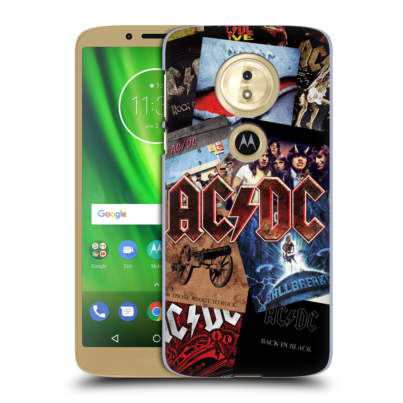 Plastové pouzdro na mobil Motorola Moto G6 Play - Head Case - AC/DC Koláž desek