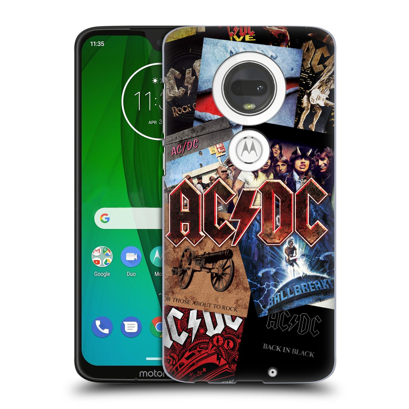 Plastové pouzdro na mobil Motorola Moto G7 - Head Case - AC/DC Koláž desek