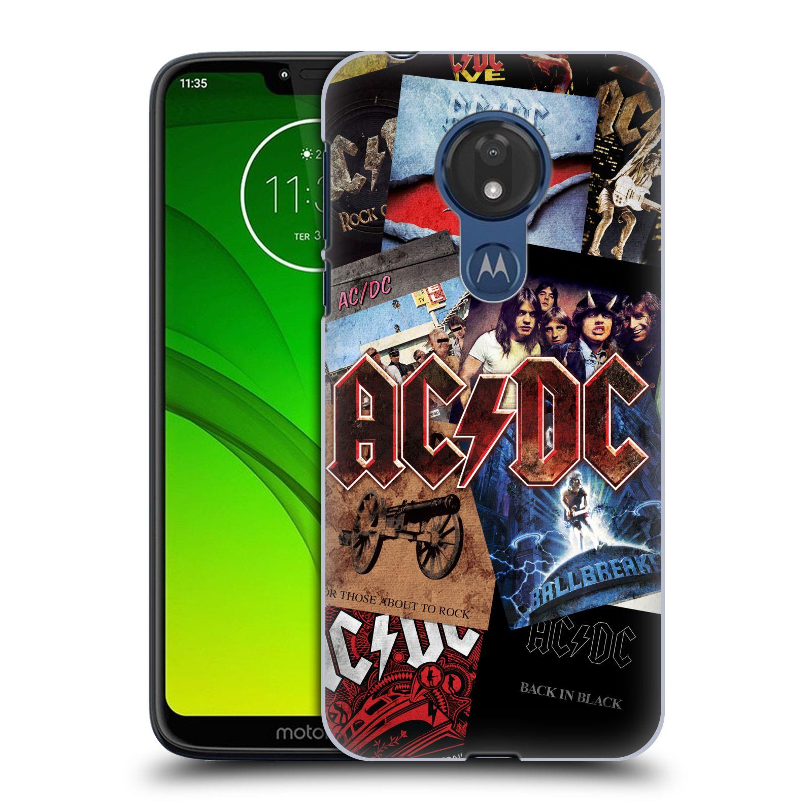 Plastové pouzdro na mobil Motorola Moto G7 Power - Head Case - AC/DC Koláž desek