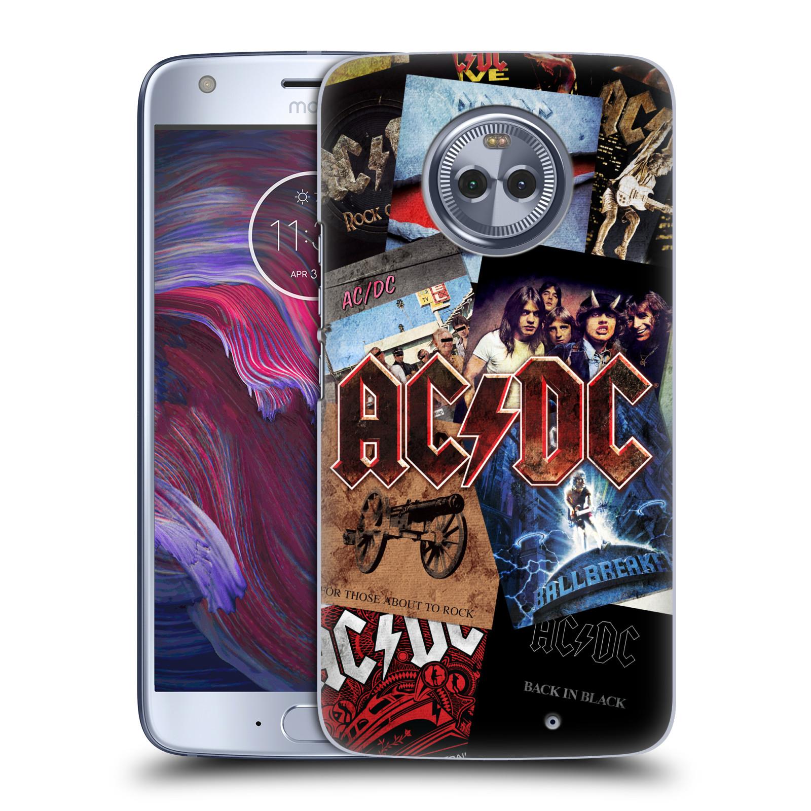 Plastové pouzdro na mobil Lenovo Moto X4 - Head Case - AC/DC Koláž desek