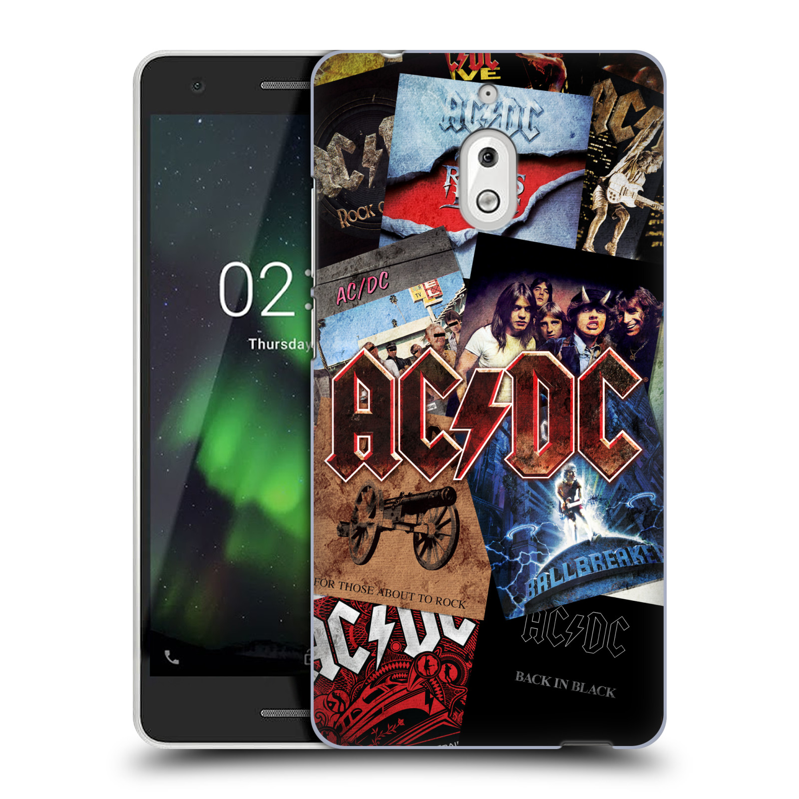 Plastové pouzdro na mobil Nokia 2.1 - Head Case - AC/DC Koláž desek