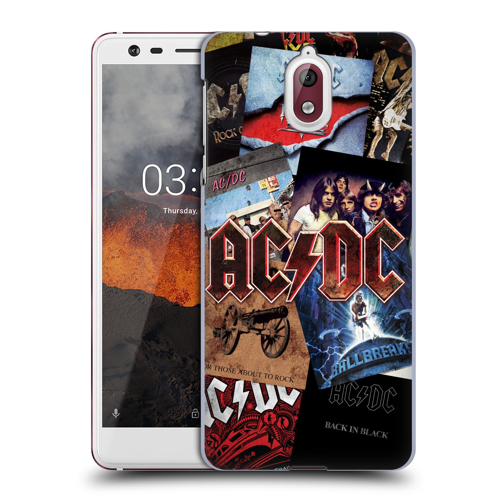 Plastové pouzdro na mobil Nokia 3.1 - Head Case - AC/DC Koláž desek