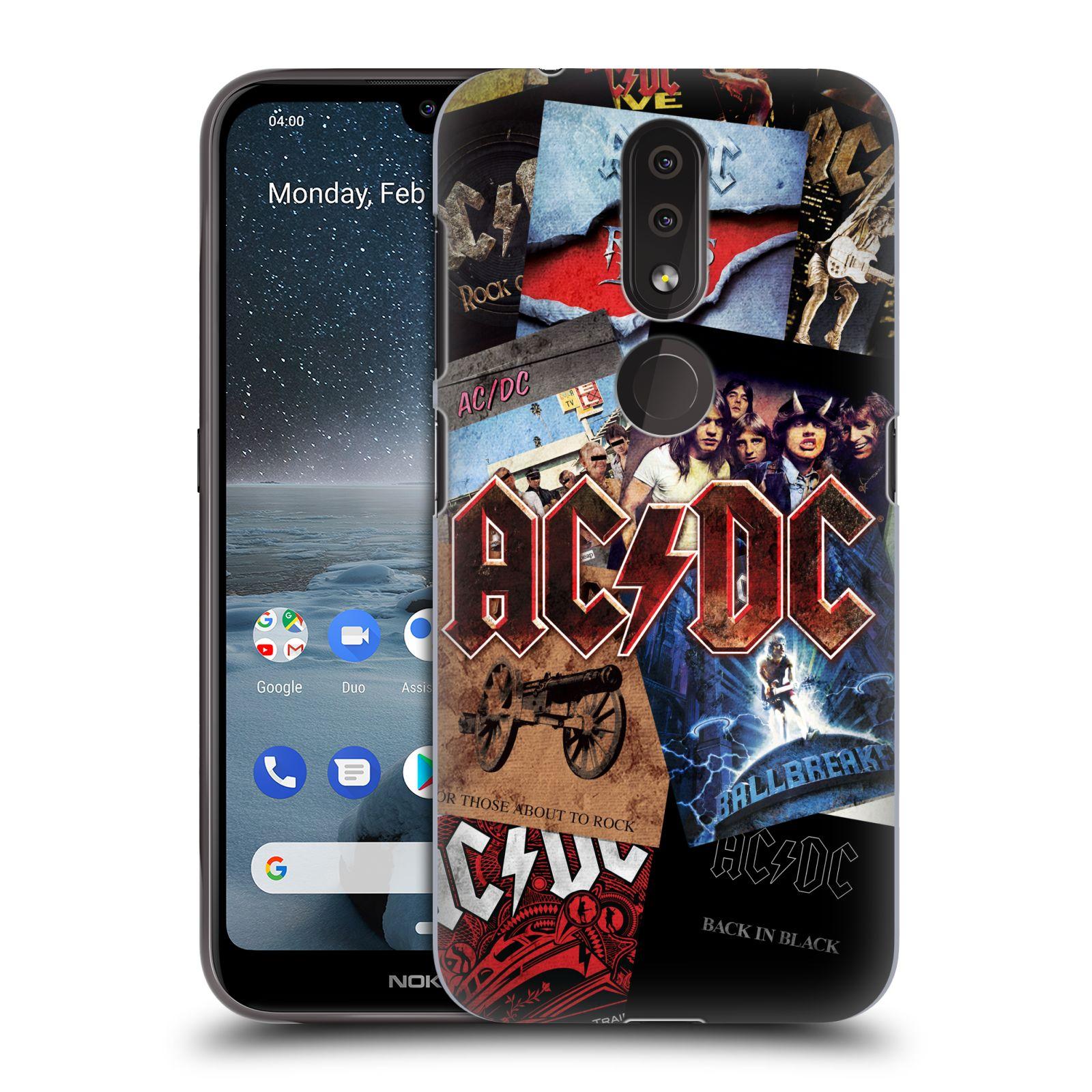 Plastové pouzdro na mobil Nokia 4.2 - Head Case - AC/DC Koláž desek