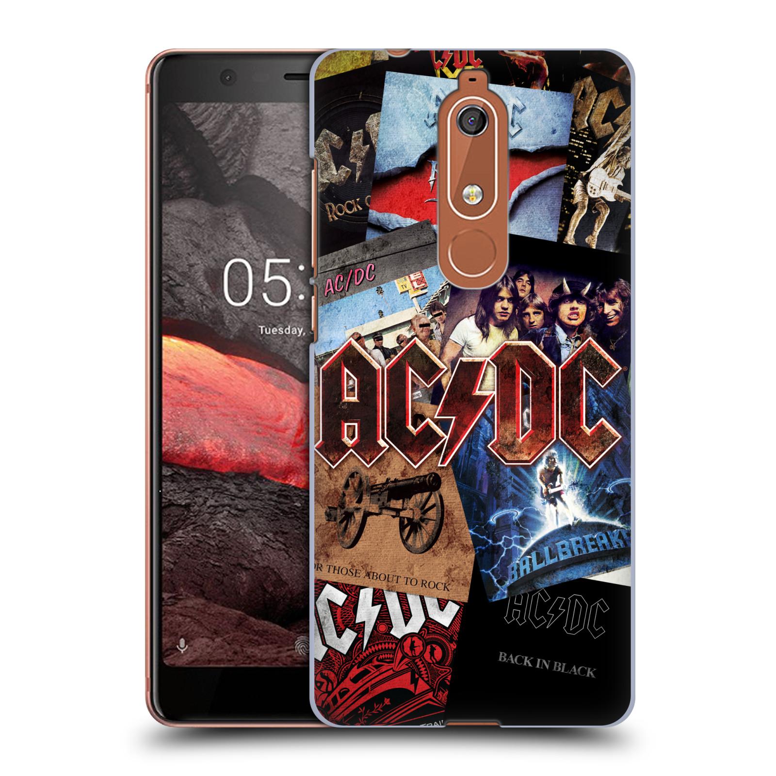 Plastové pouzdro na mobil Nokia 5.1 - Head Case - AC/DC Koláž desek