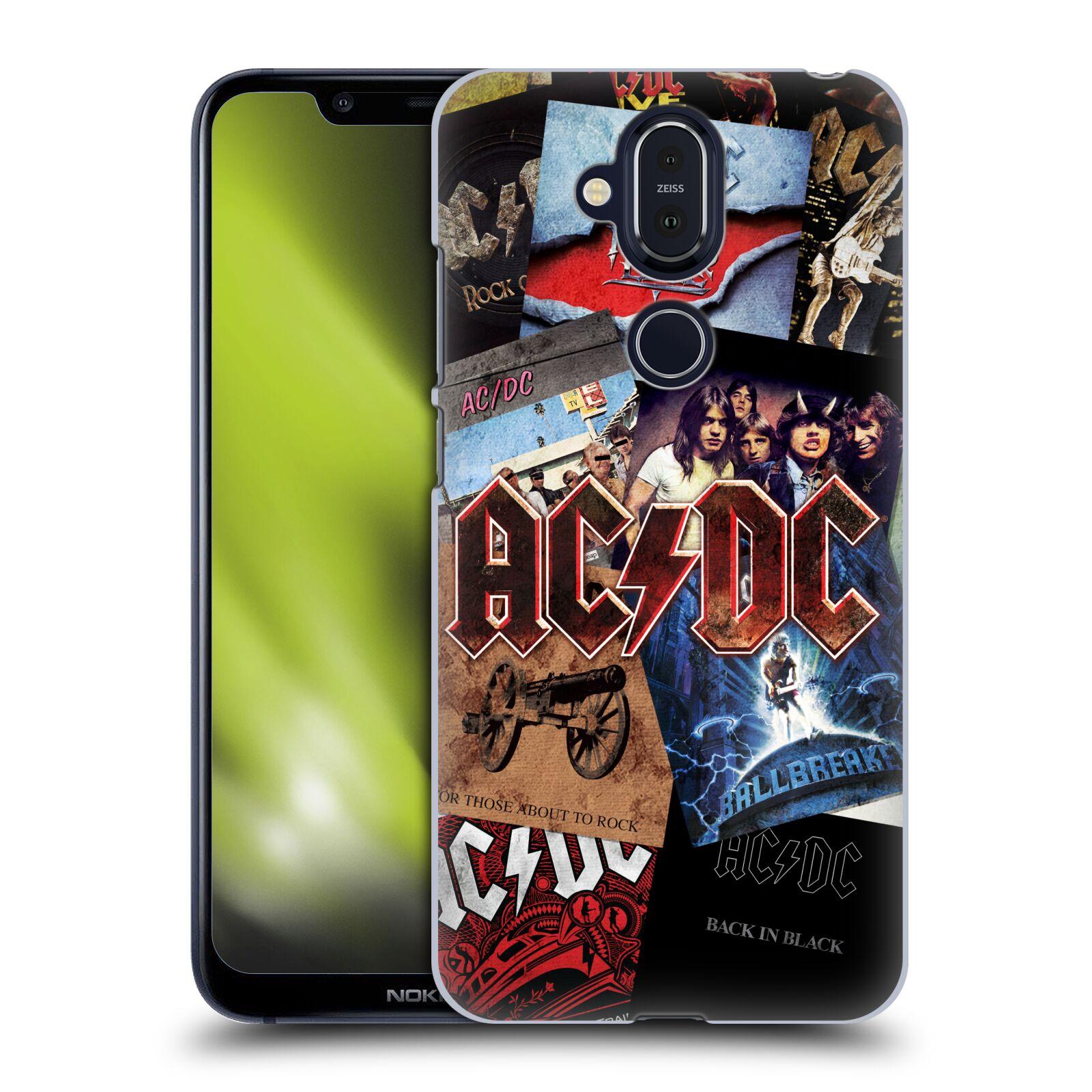 Plastové pouzdro na mobil Nokia 8.1 - Head Case - AC/DC Koláž desek