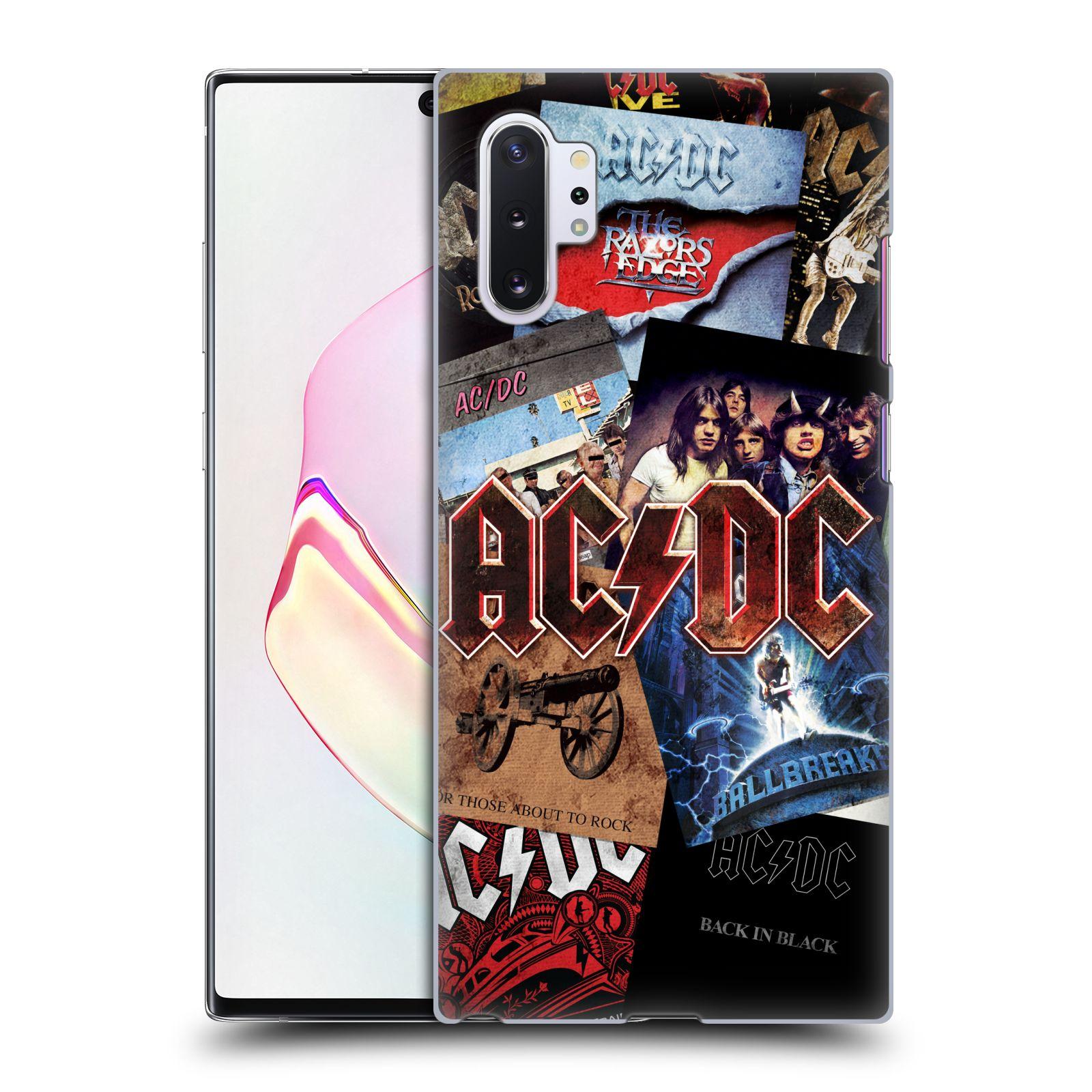 Plastové pouzdro na mobil Samsung Galaxy Note 10 Plus - Head Case - AC/DC Koláž desek