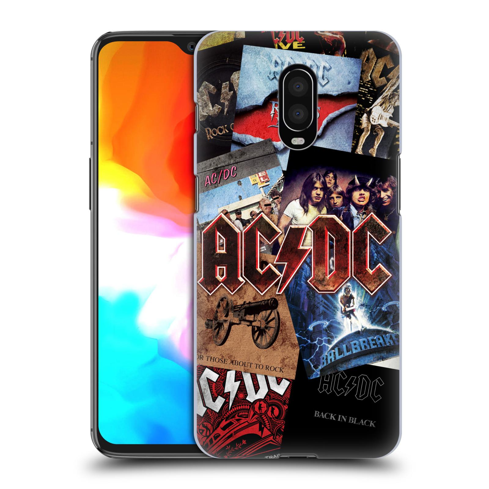 Plastové pouzdro na mobil OnePlus 6T - Head Case - AC/DC Koláž desek
