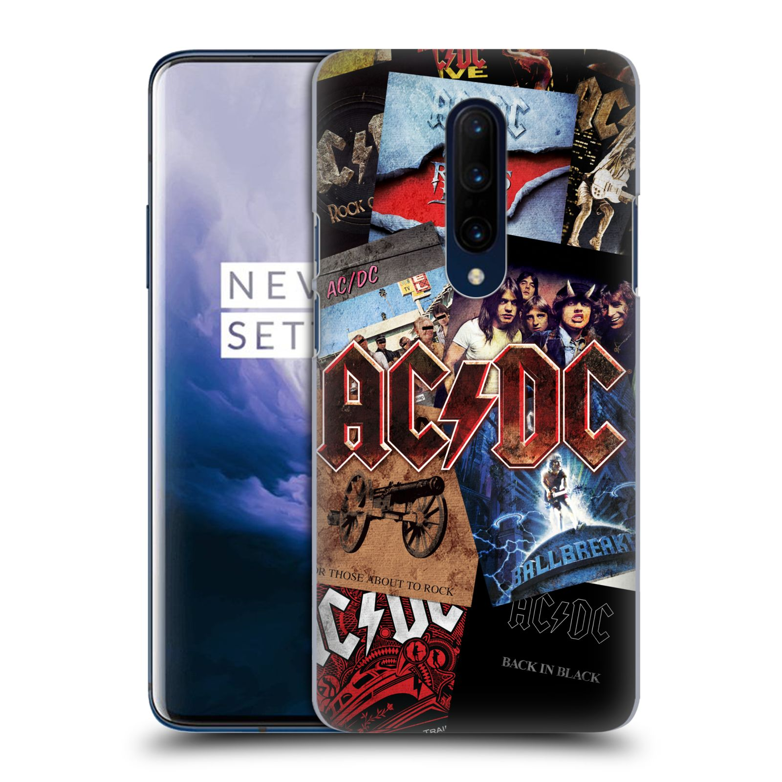Plastové pouzdro na mobil OnePlus 7 Pro - Head Case - AC/DC Koláž desek