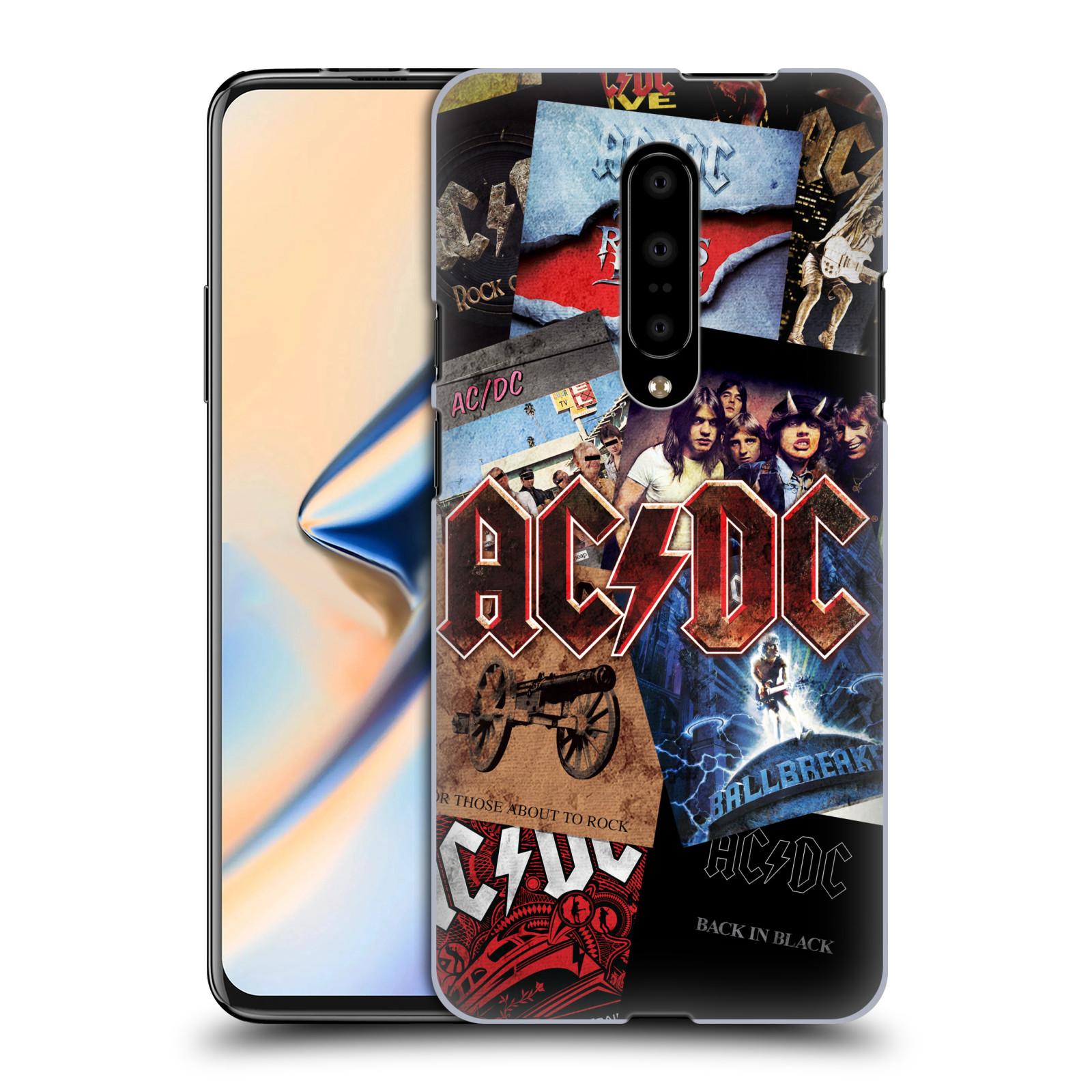 Plastové pouzdro na mobil OnePlus 7 - Head Case - AC/DC Koláž desek