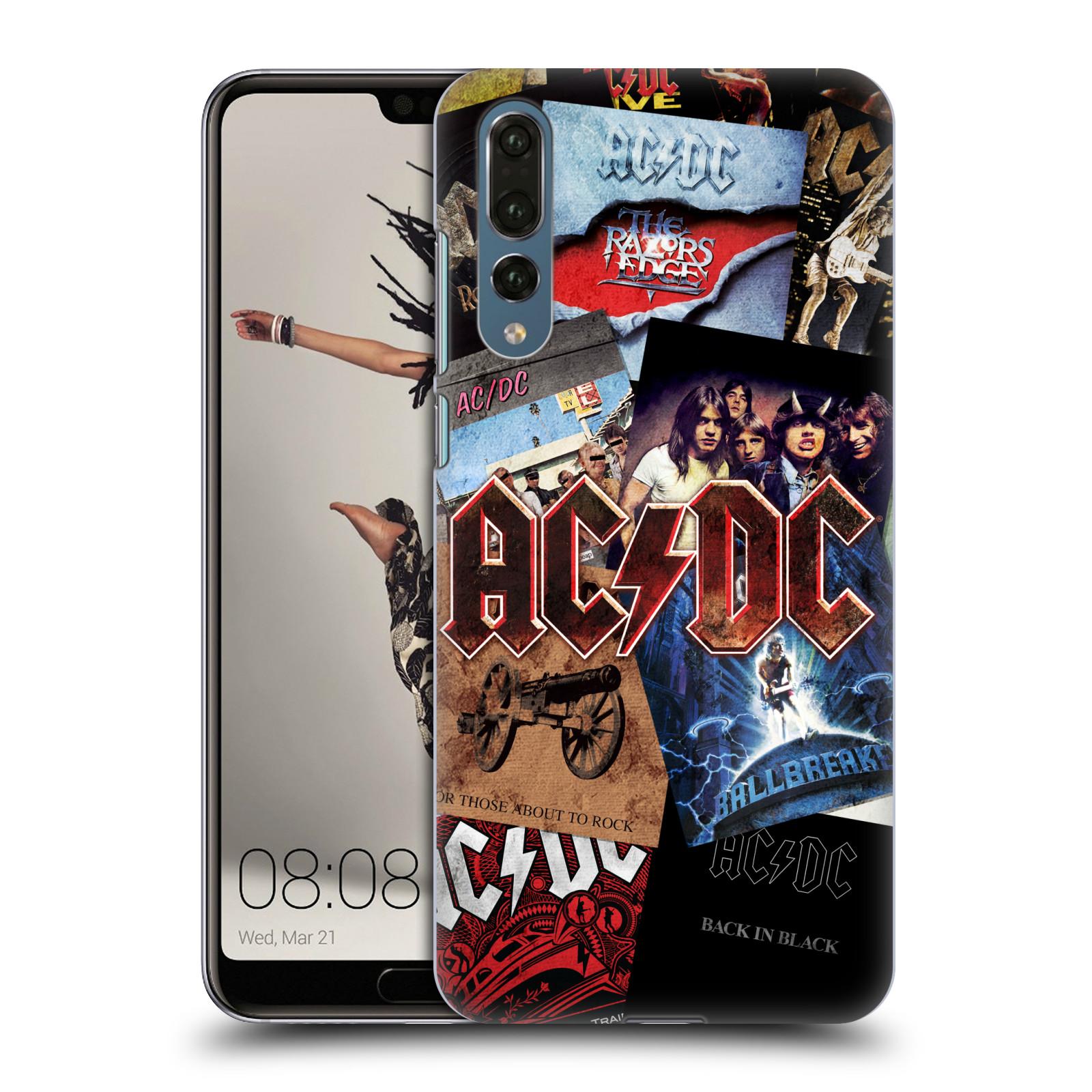 Plastové pouzdro na mobil Huawei P20 Pro - Head Case - AC/DC Koláž desek
