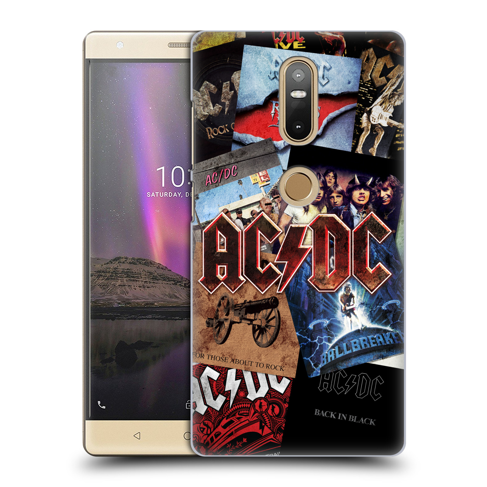 Plastové pouzdro na mobil Lenovo Phab 2 Plus - Head Case - AC/DC Koláž desek