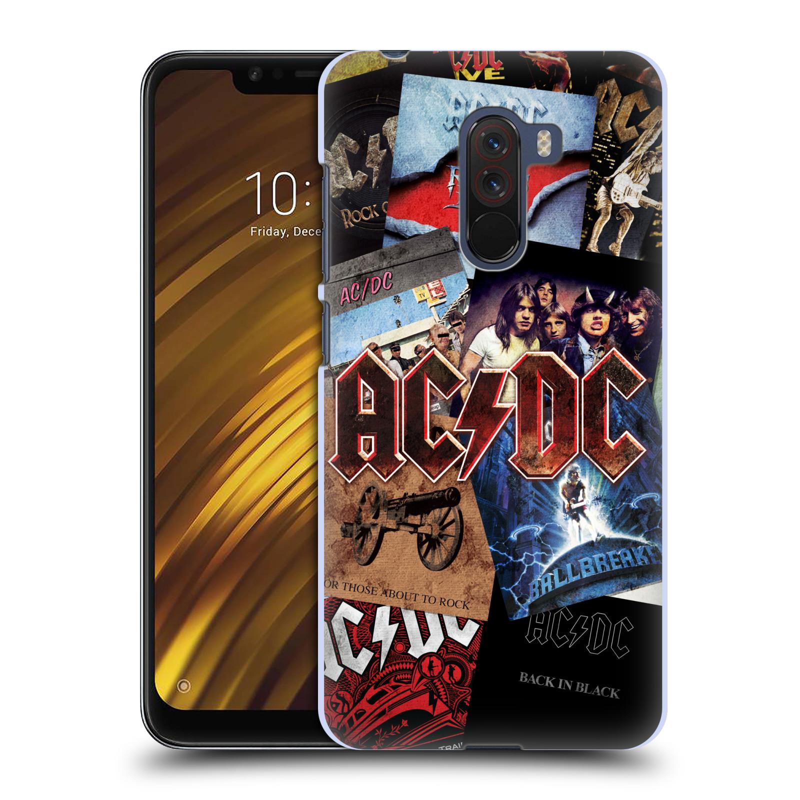 Plastové pouzdro na mobil Xiaomi Pocophone F1 - Head Case - AC/DC Koláž desek