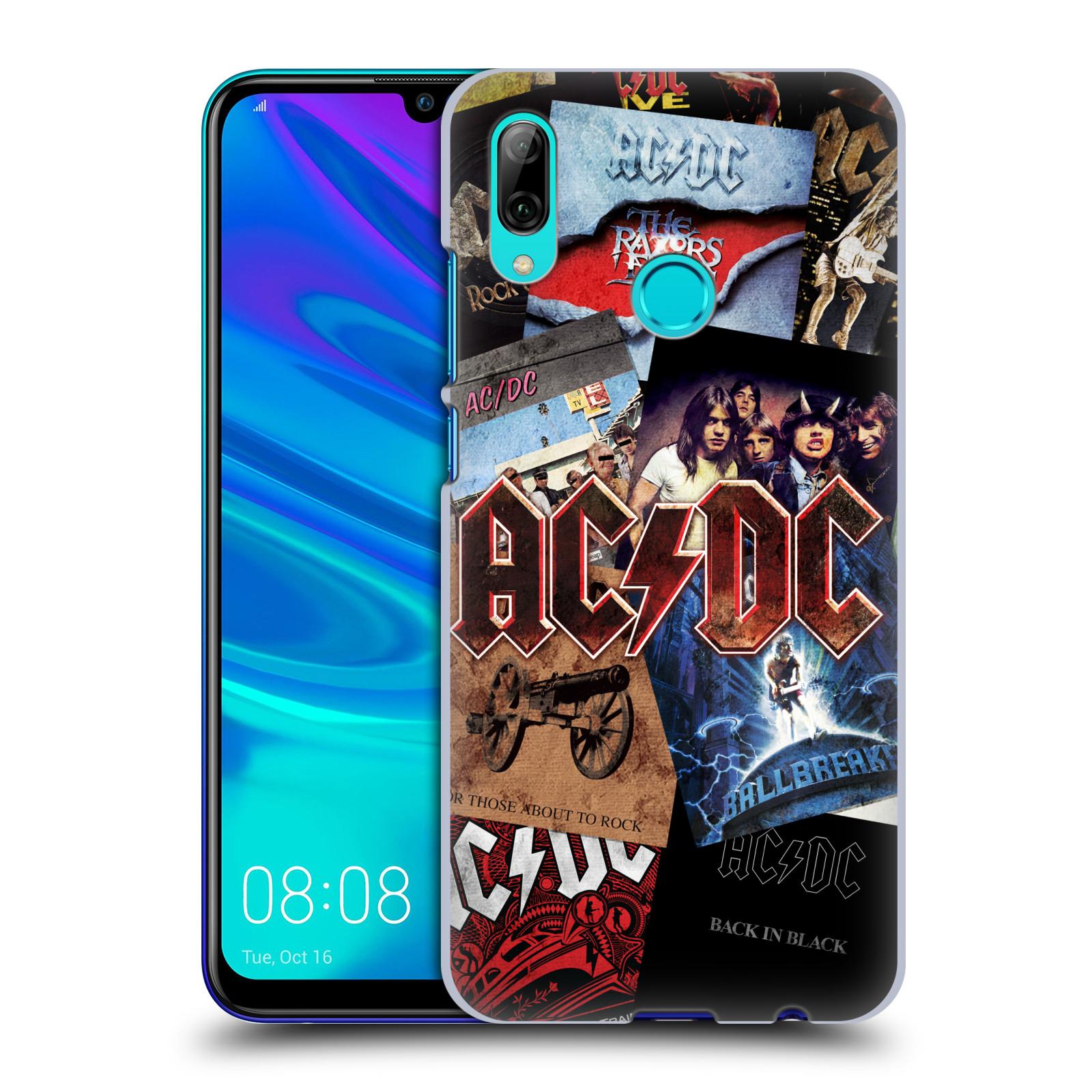 Plastové pouzdro na mobil Huawei P Smart (2019) - Head Case - AC/DC Koláž desek